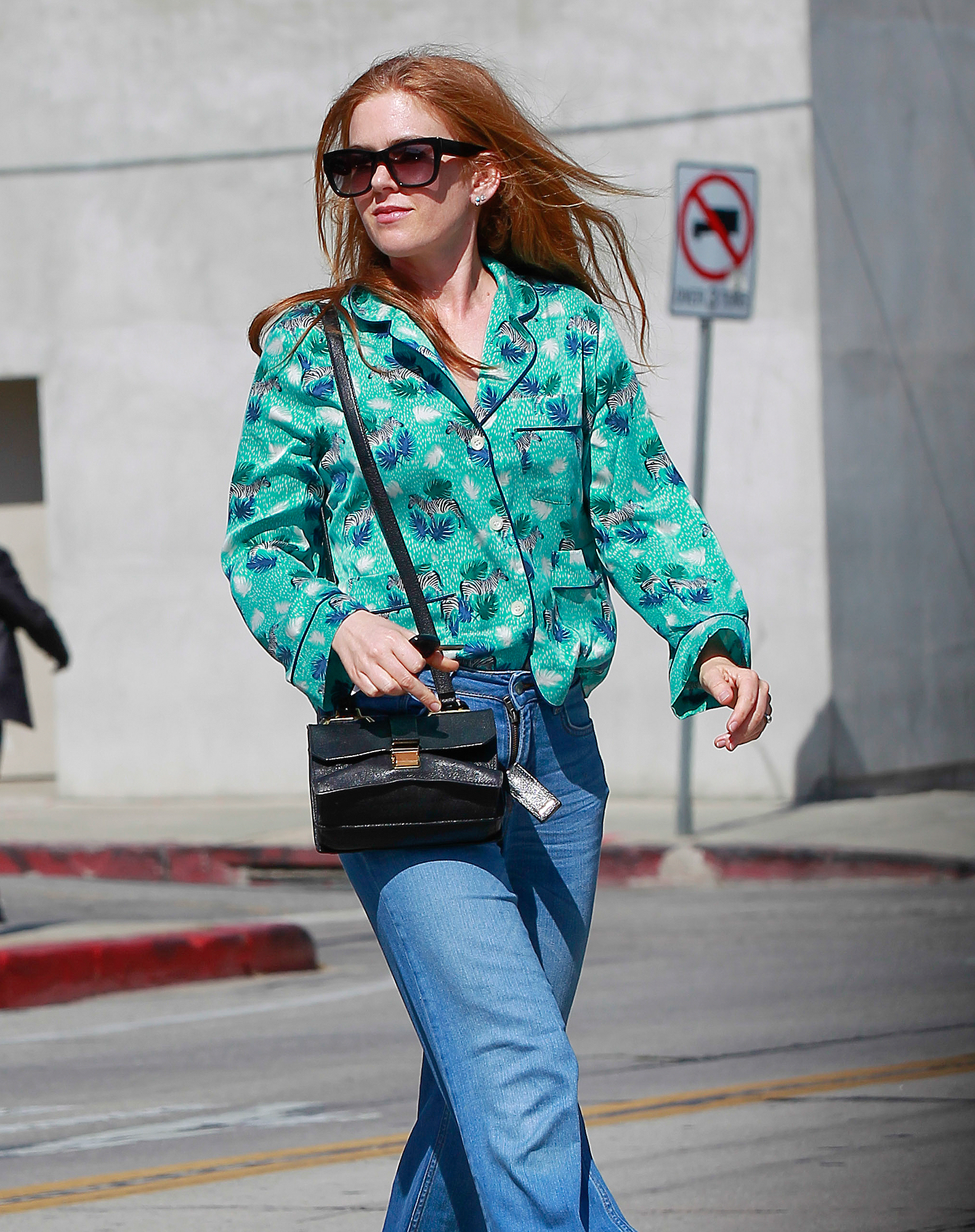 EXCLUSIVE: Isla Fisher spotted leaving Gracias Madre in Los Angeles