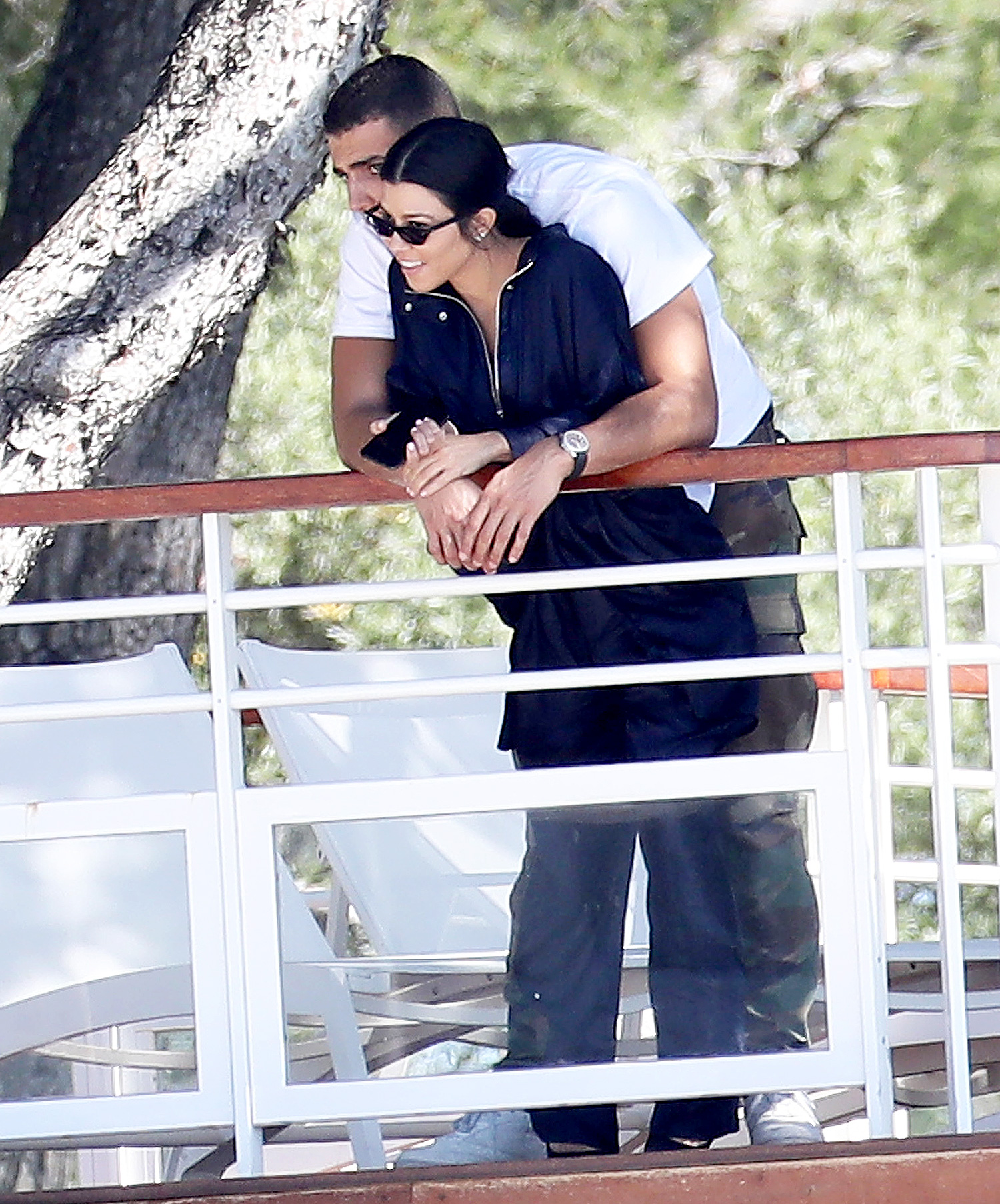 Kourtney Kardashian and Younes Bendjima in love at the Eden Roc during the 70th Cannes Festival