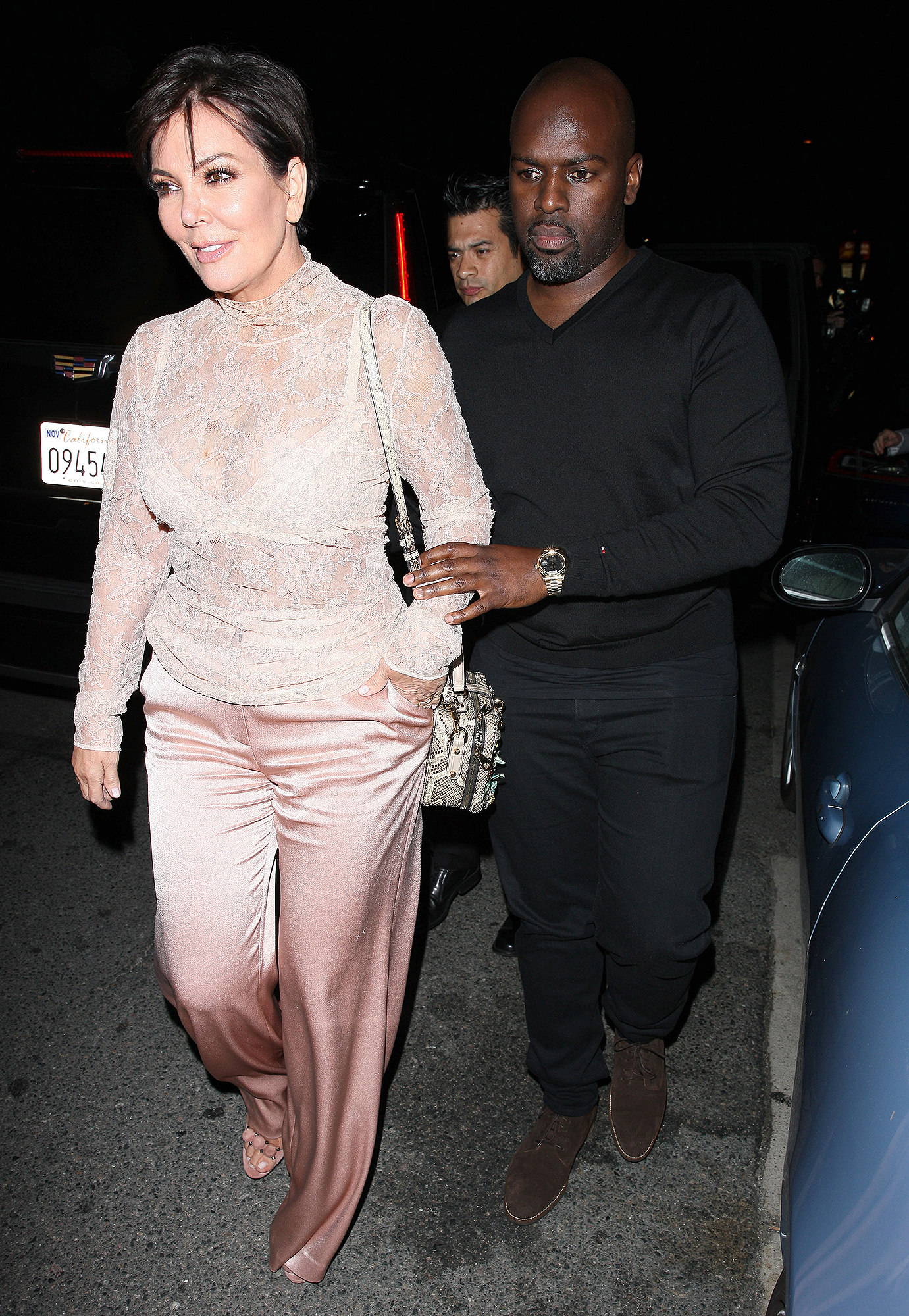 Kris Jenner and Corey Gamble grab dinner at Giorgio Baldi restaurant with fashion designer Tommy Hilfiger and his wife Dee Ocleppo