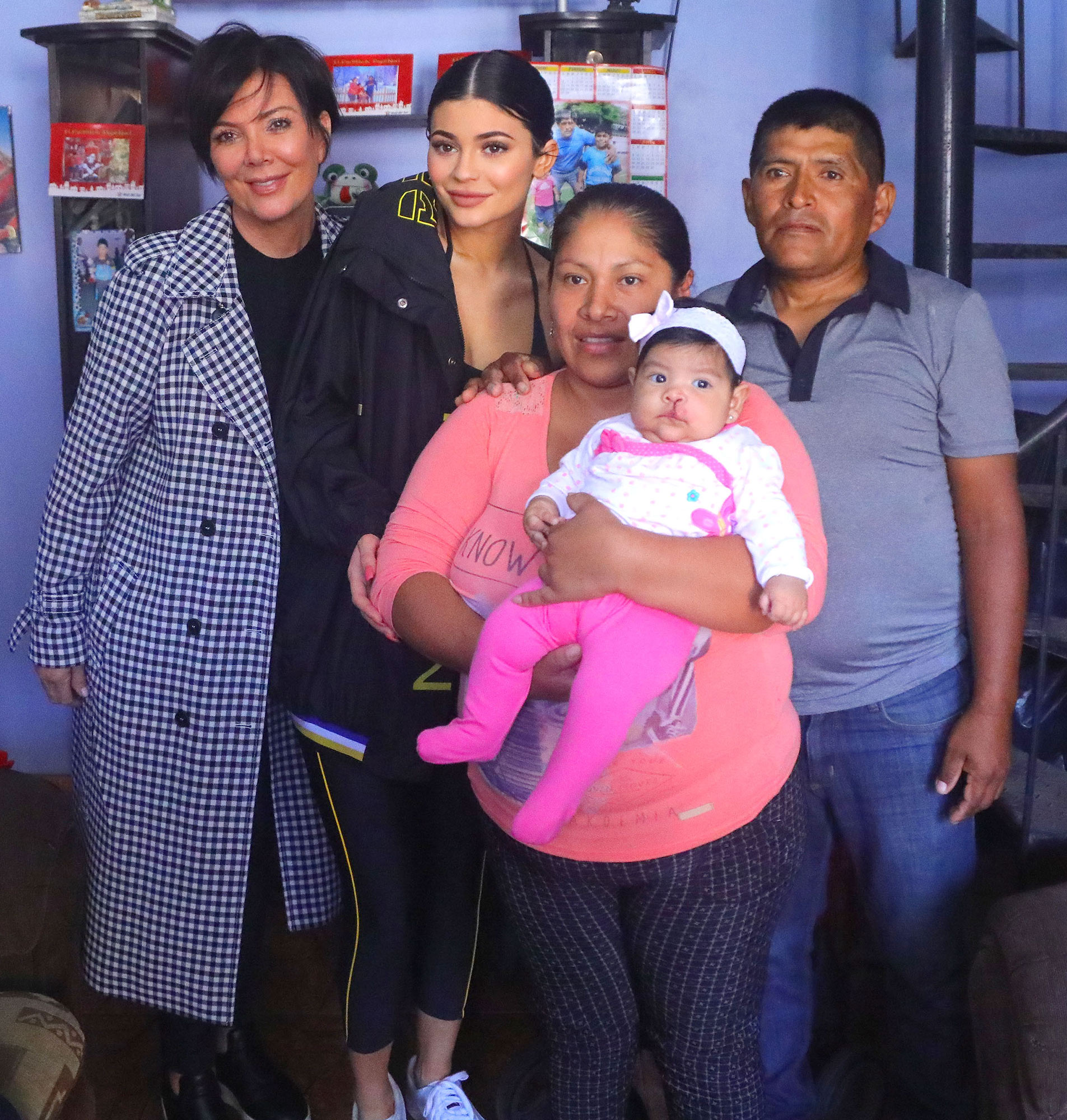 EXCLUSIVE: **PREMIUM EXCLUSIVE RATES APPLY**Kylie and Kris Jenner visit a hospital in Peru