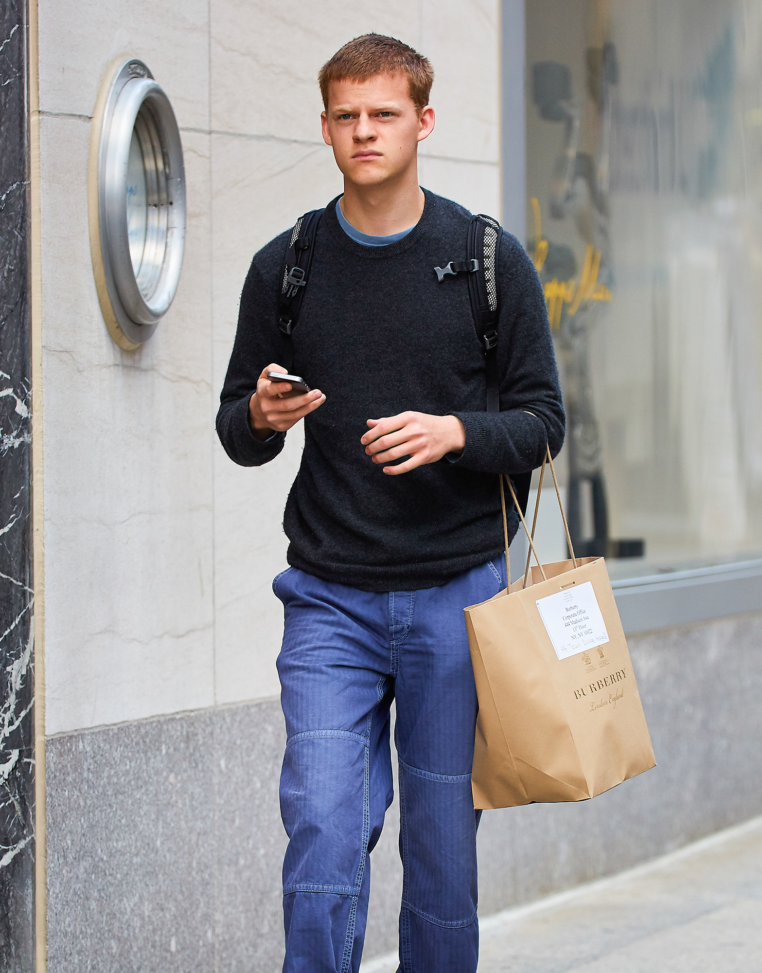 EXCLUSIVE: Lucas Hedges seen out and about in NYC