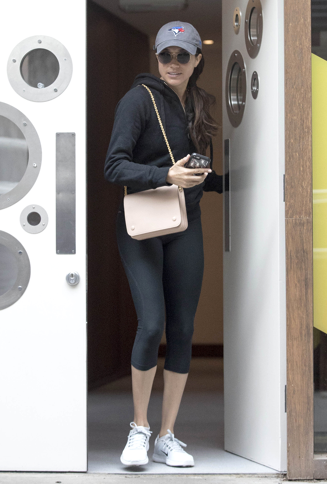 PREMIUM EXCLUSIVE: Meghan Markle Visits a London Spa ahead of Pippa Middleton's Wedding.