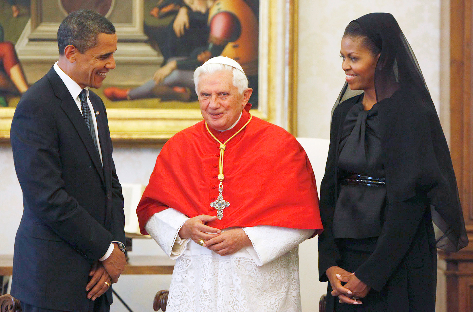 Barack Obama, Pope Benedict XVI, Michelle Obama