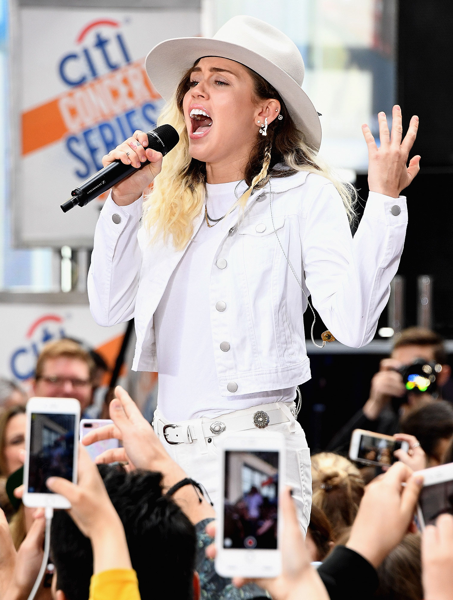 """Miley Cyrus Performs On NBC's """"Today"""""""