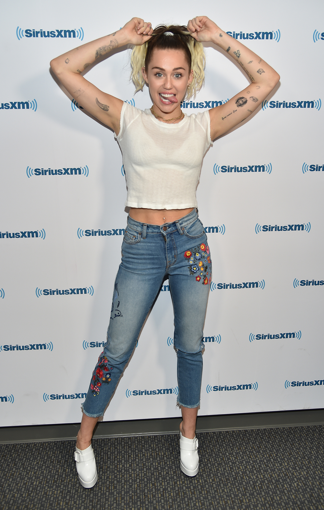 """Miley Cyrus Visits """"Hits 1 In Hollywood"""" On SiriusXM Hits 1 Channel At The SiriusXM Studios In Los Angeles"""