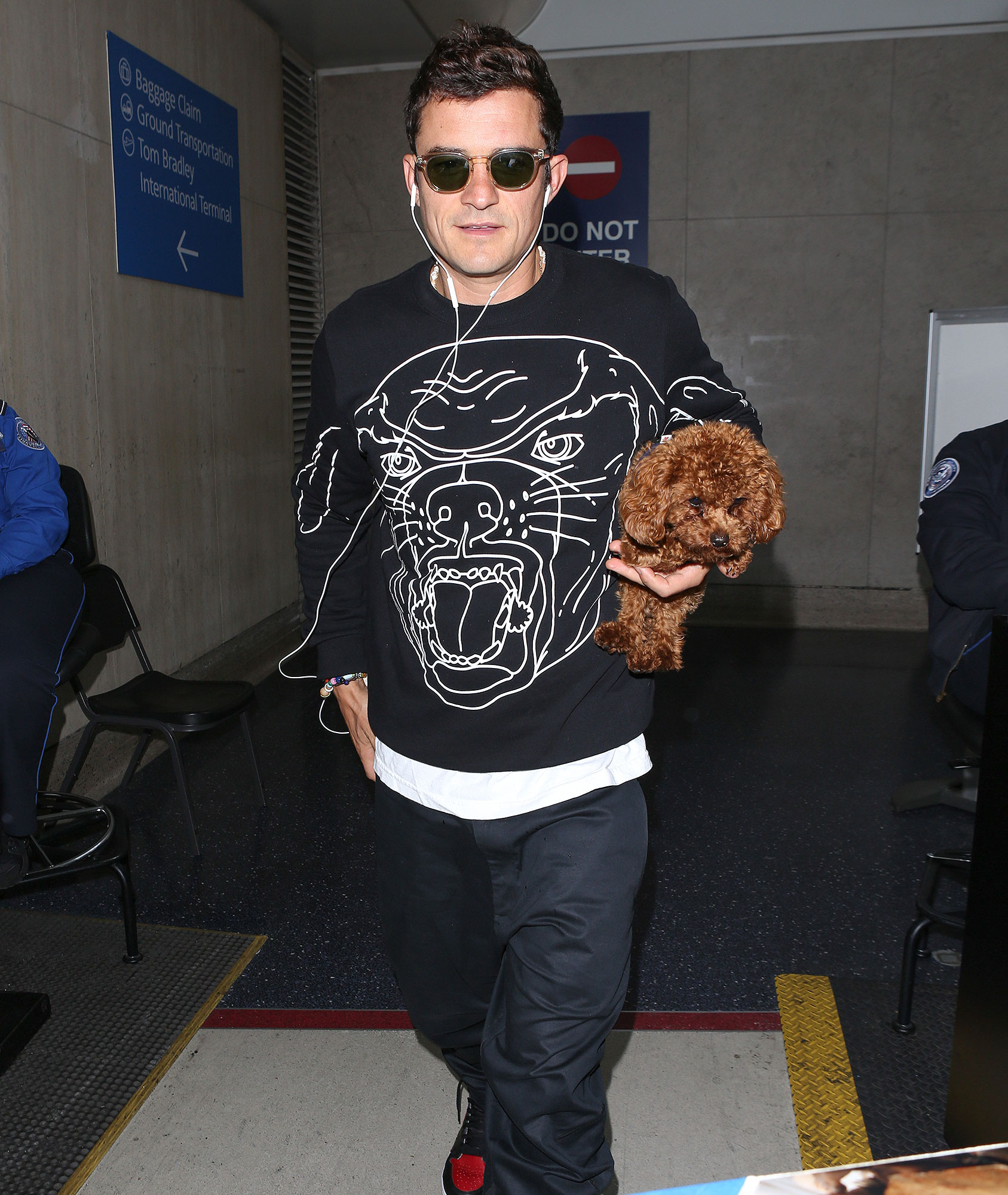 Orlando Bloom is spotted arriving at LAX Airport in Los Angeles