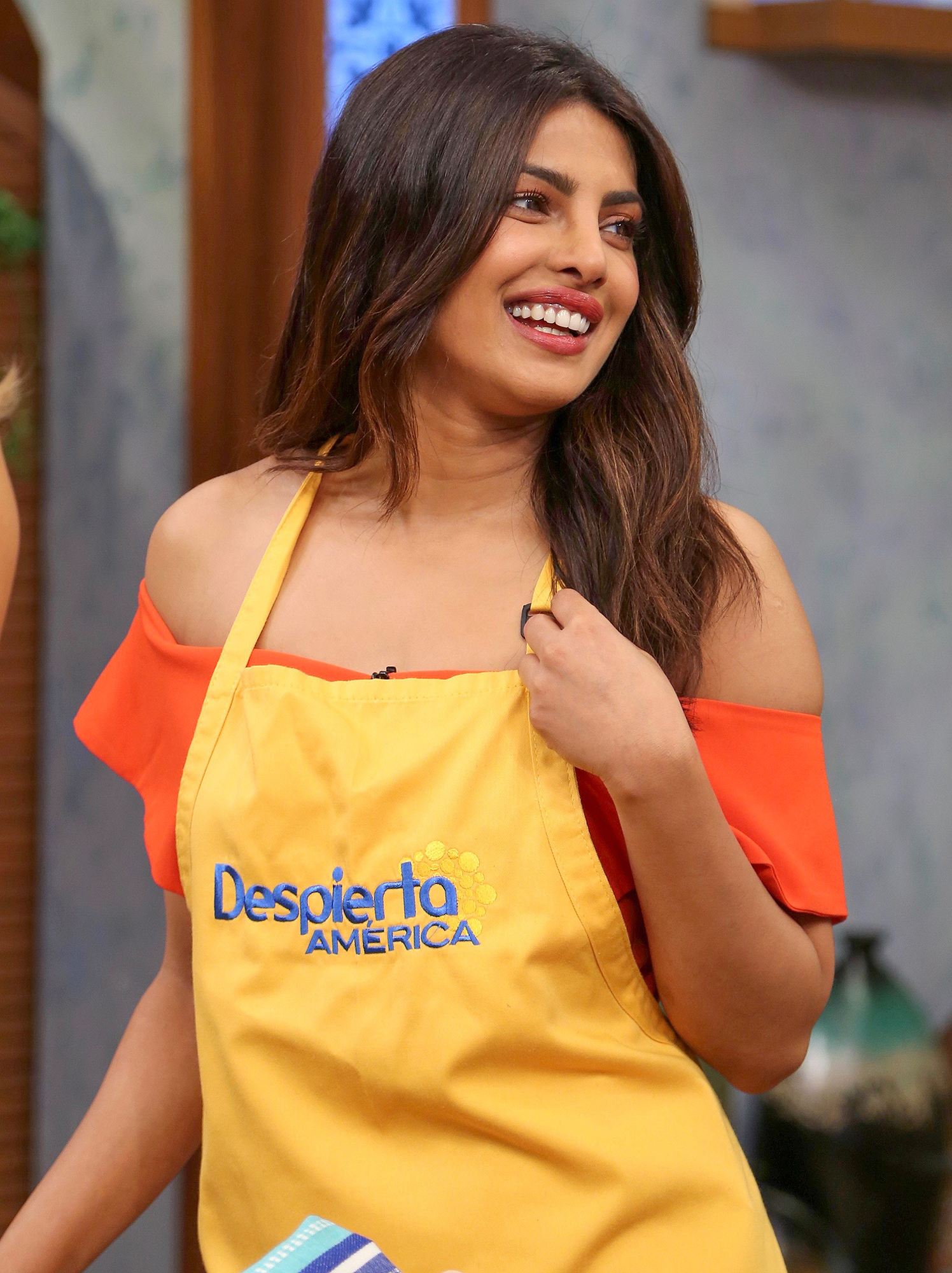 Priyanka Chopra is the center of attention on the Despierta America morning show