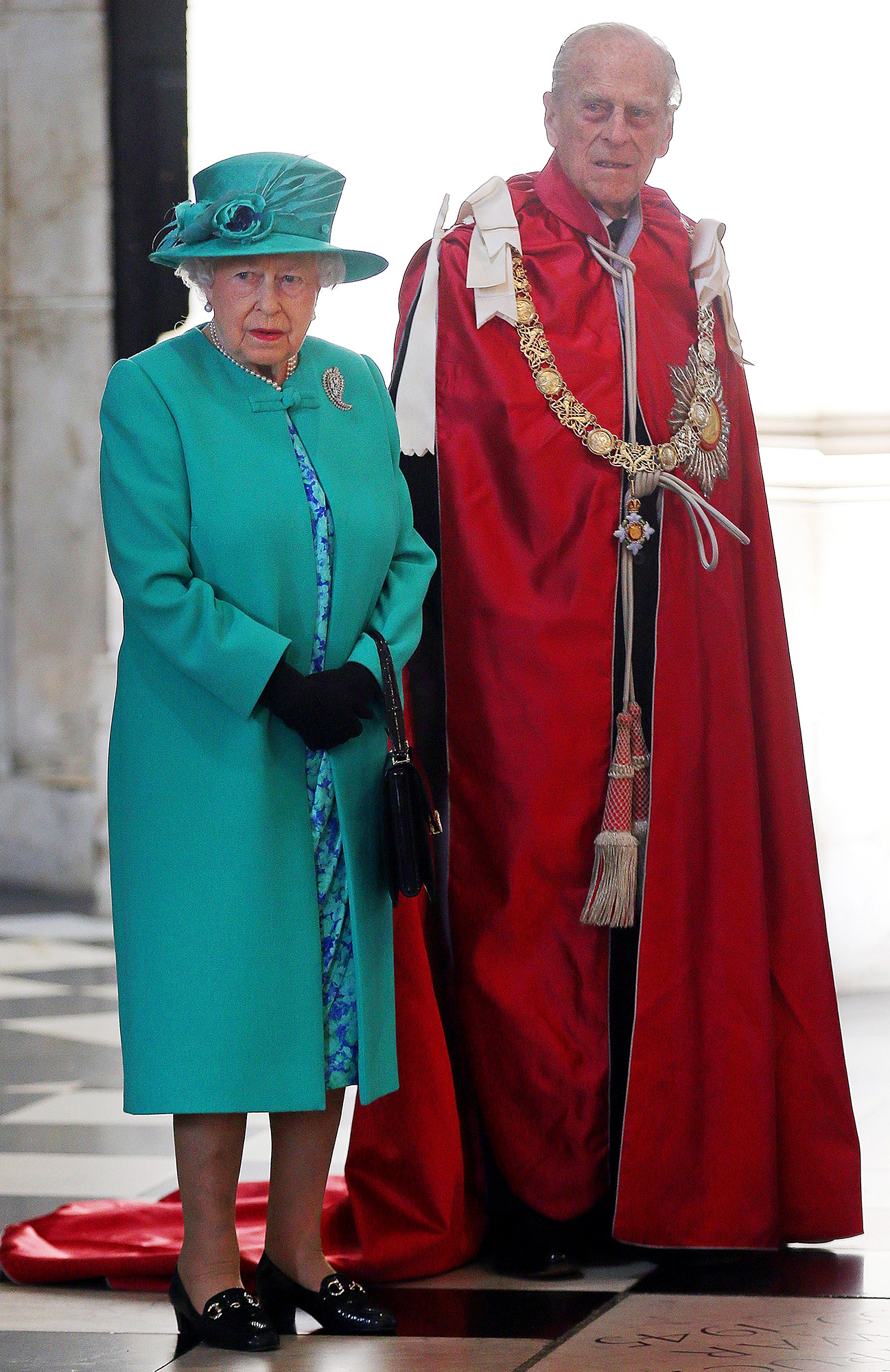The Queen And The Duke of Edinburgh Attend Service To Mark The Centenary Of The OBE