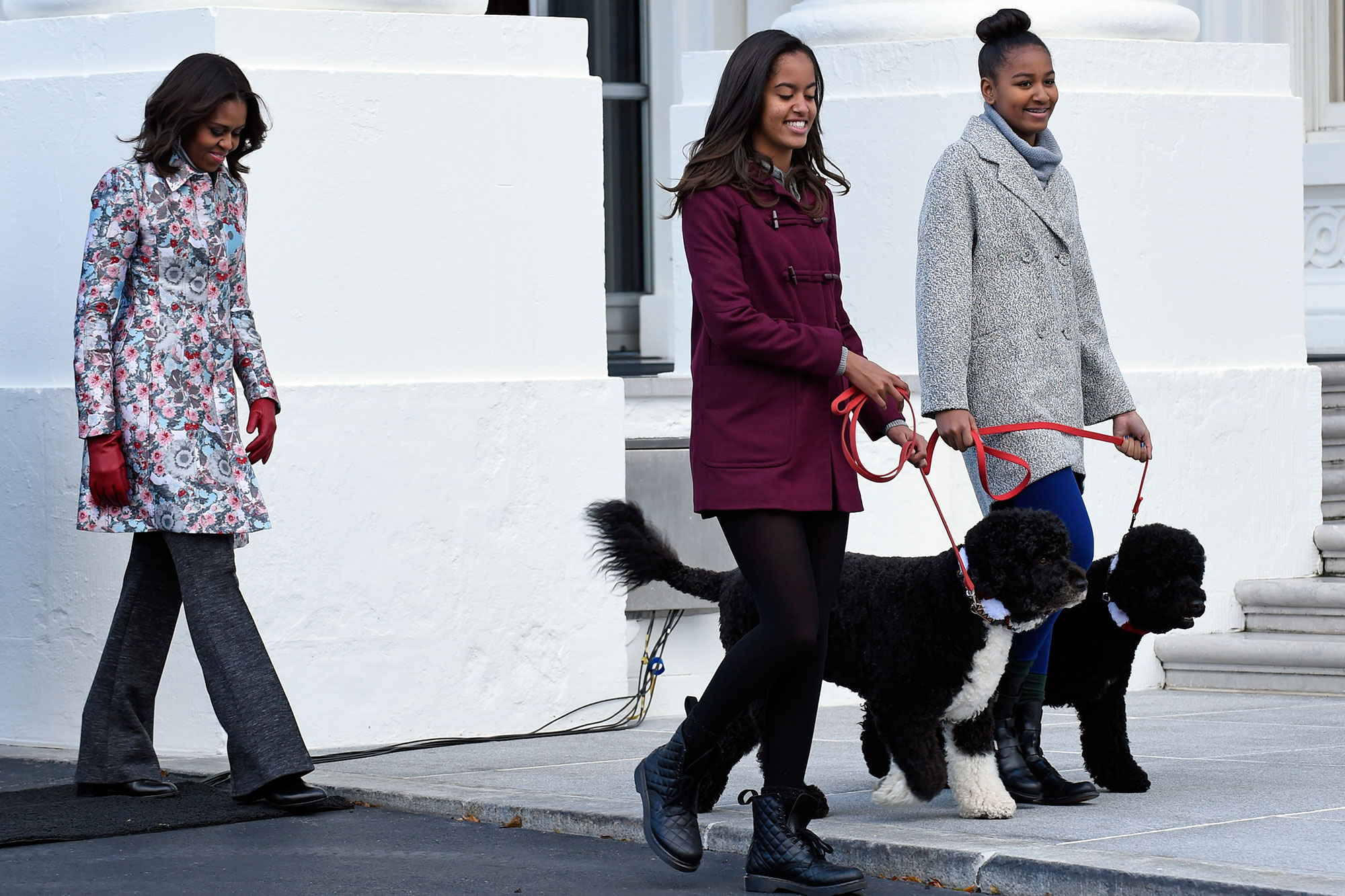 Michelle Obama, Sasha Obama, Malia Obama, Bo Obama, Sunny Obama