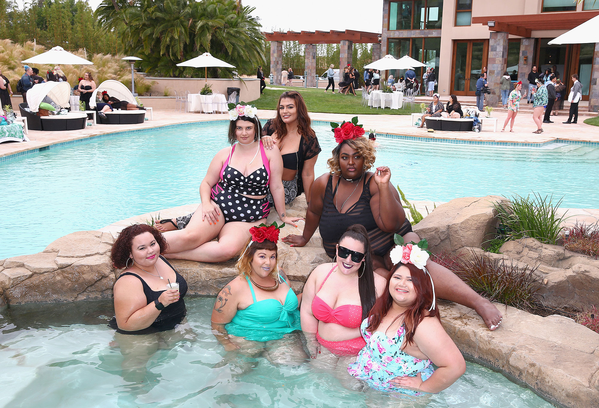 Torrid #TheseCurves Pool Party at The Monaco Mansion in Orange County