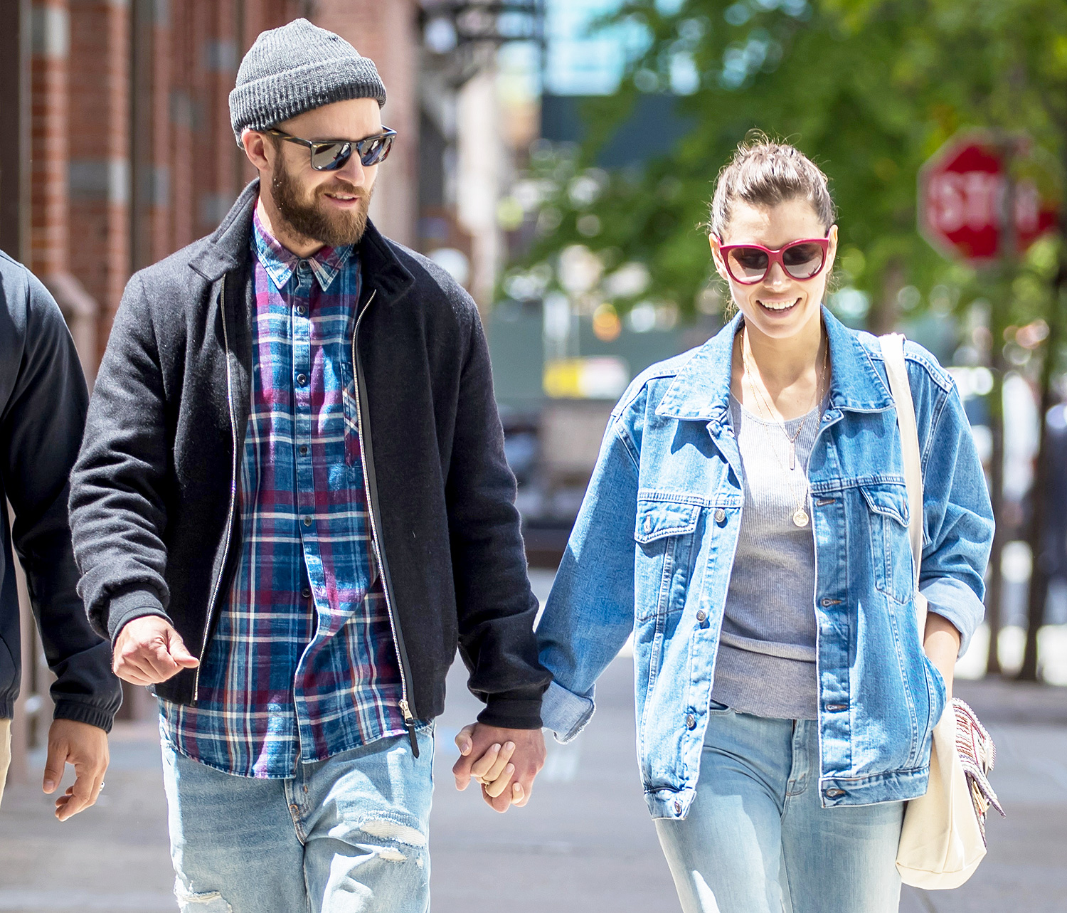 EXCLUSIVE: Justin Timberlake and Jessica Biel are Spotted Holding Hands While Out on a Walk in NYC