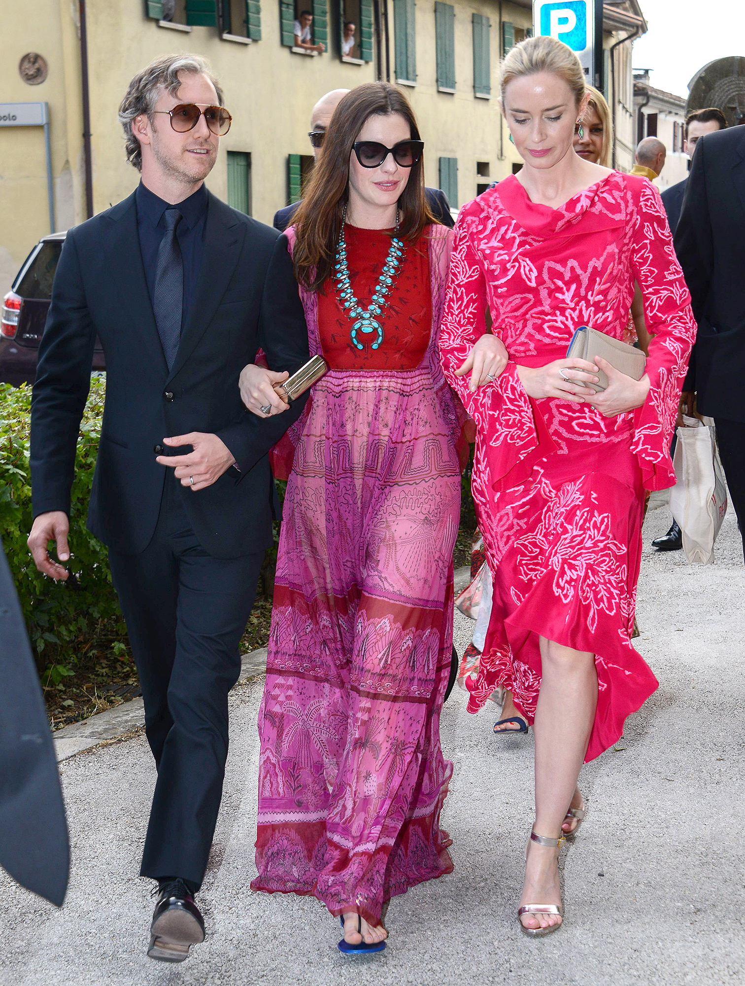 Arrivals for the Jessica Chastain and Gian Luca Passi Wedding, Villa Tiepolo Passi, Italy - 10 Jun 2017