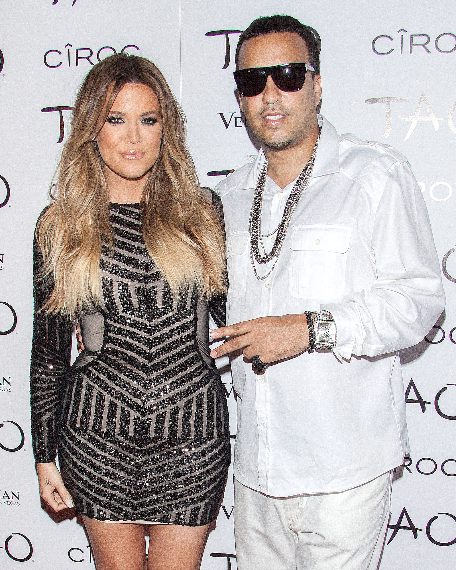 Khloe Kardashian and French Montana celebrate Fourth of July weekend at TAO Nightclub in Las Vegas