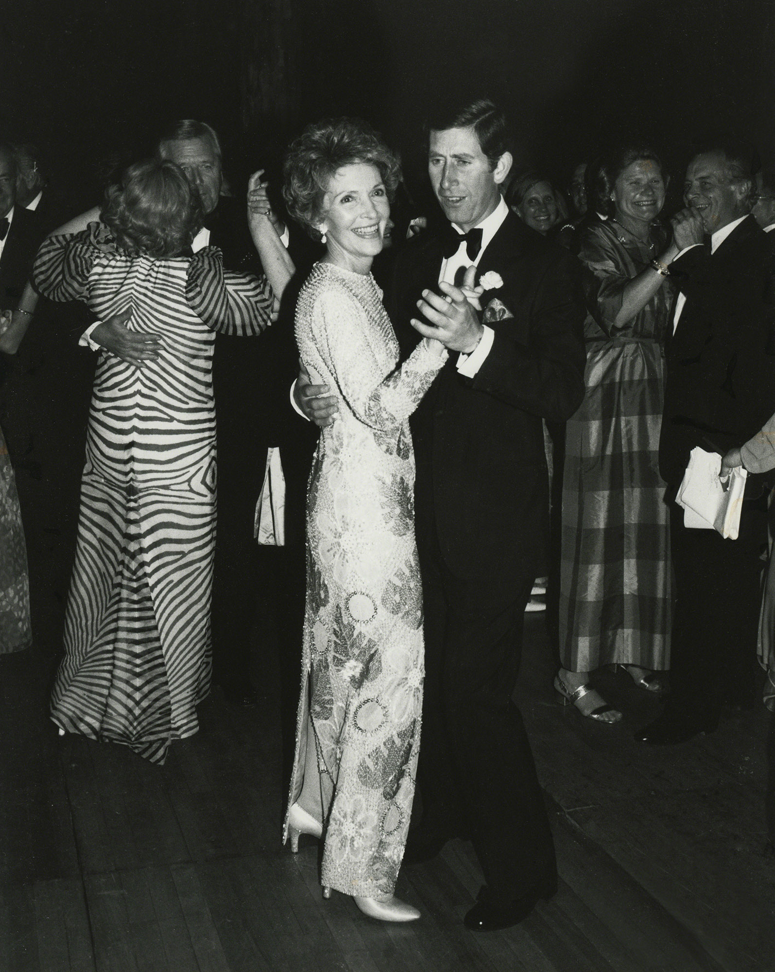 Prince Charles dances with First Lady Nancy Reagan