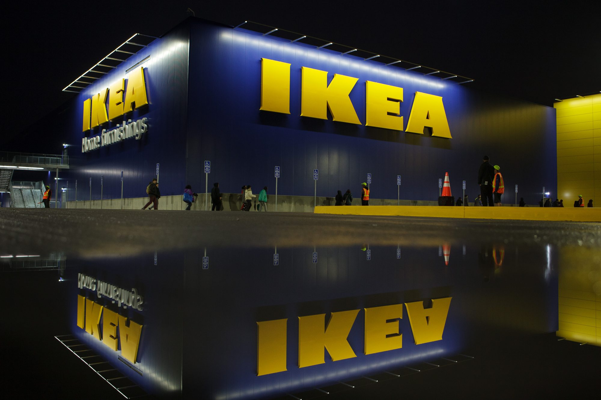 Shoppers Attend The Grand Opening Of The IKEA Burbank Store