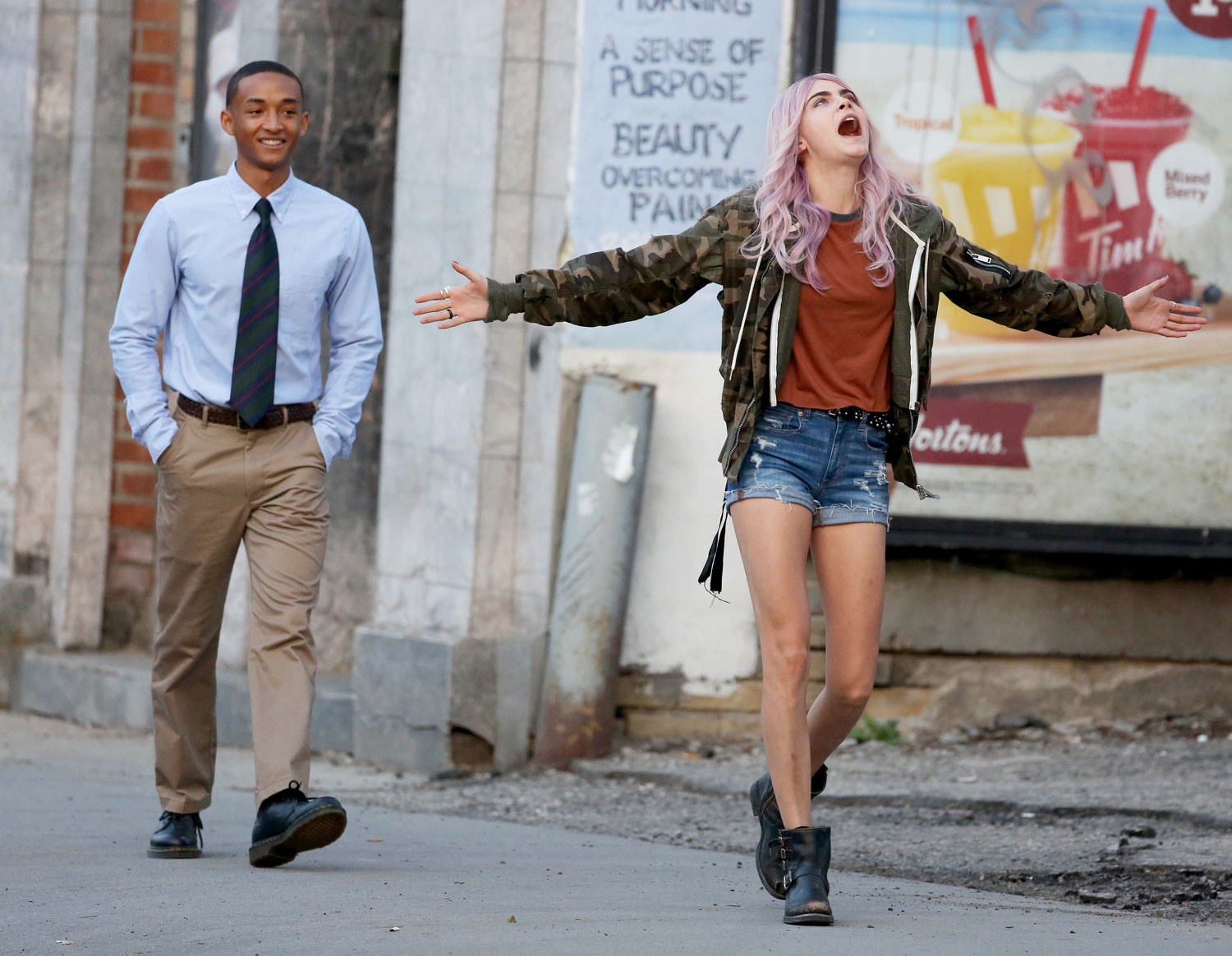 EXCLUSIVE: LAST DAY OF FILMING! Cara Delevingne and Jaden Smith are Spotted on the Toronto set of 'Life in a Year'