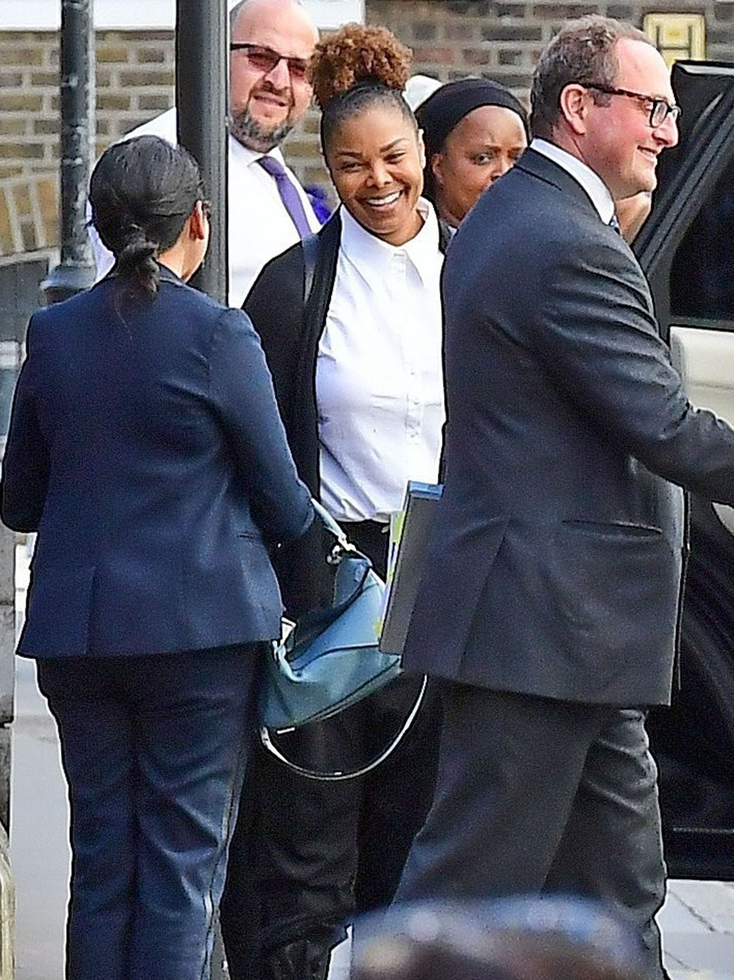 *PREMIUM-EXCLUSIVE* Janet Jackson and estranged Husband Wissam Al Manna were spotted leaving the Royal Courts of Justice in London