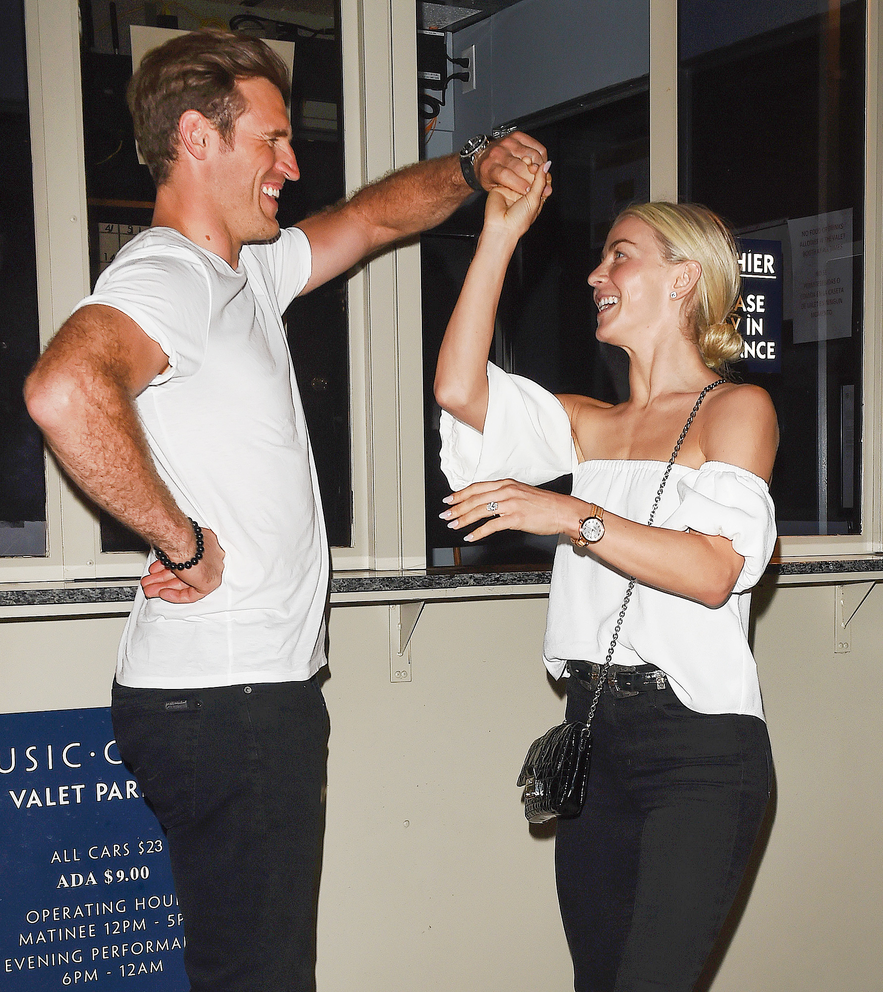 EXCLUSIVE: Julianne Hough and Brooks Laich enjoy a Date Night watching Mark Ballas Jersey Boy Performance at the Ahmanson Theatre in Los Angeles