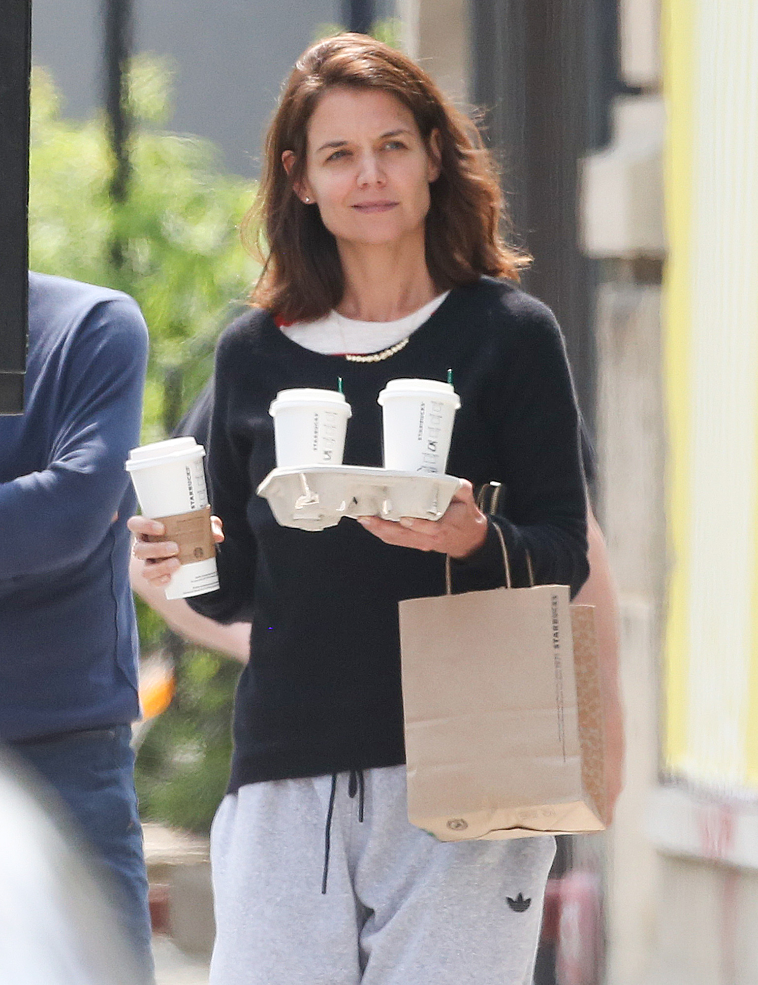 EXCLUSIVE: Katie Holmes Steps out For a Starbucks Run in Montreal