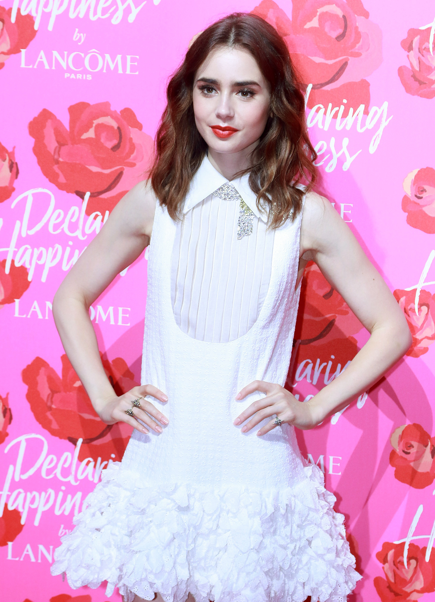Stars Highlight Opening Ceremony Of Lancome 'Declaring Happiness' Exhibition In Shanghai