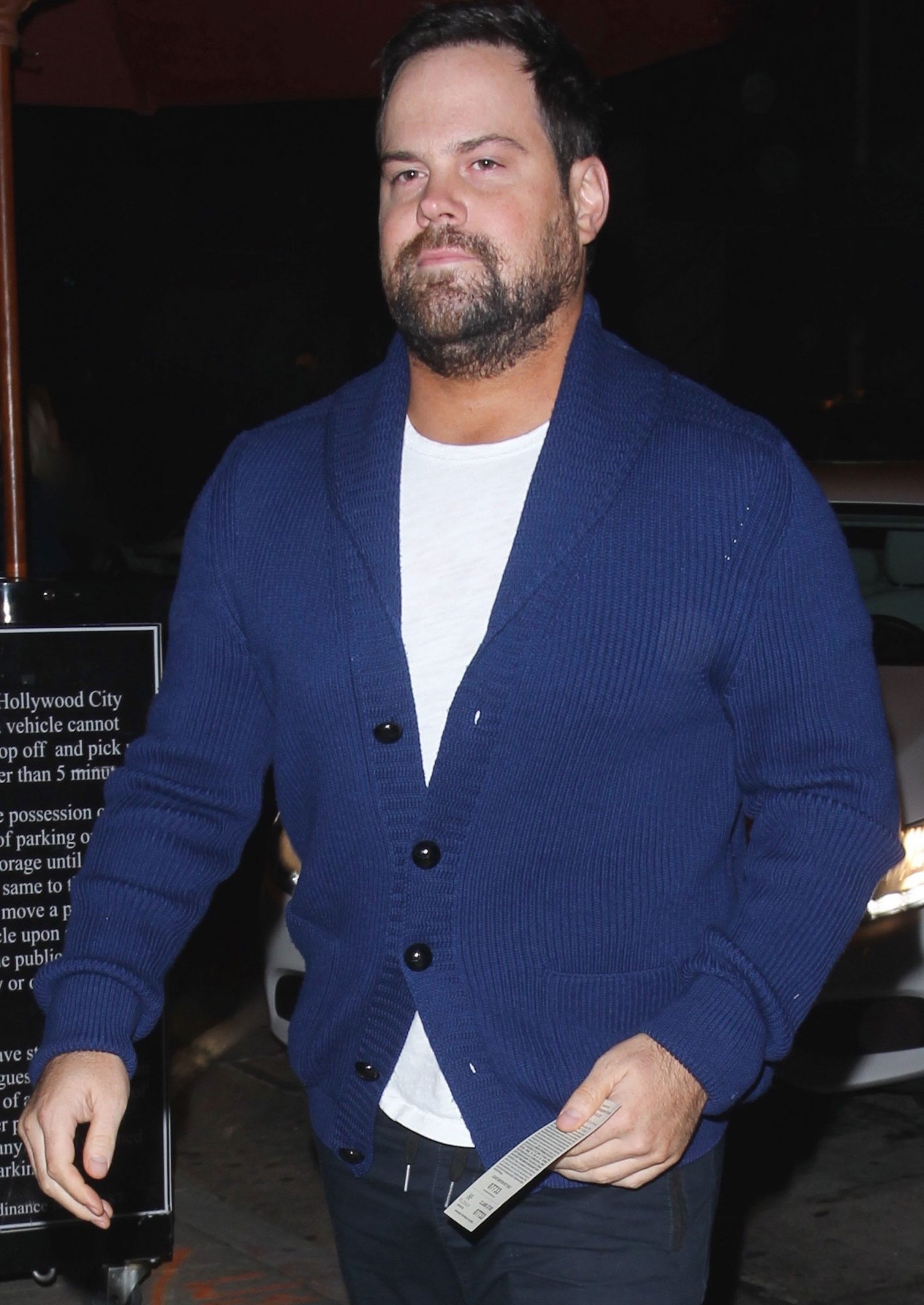 Hockey player and ex husband of Hilary Duff, Mike Comrie is seen alone at 'Craig's' restaurant in Los Angeles