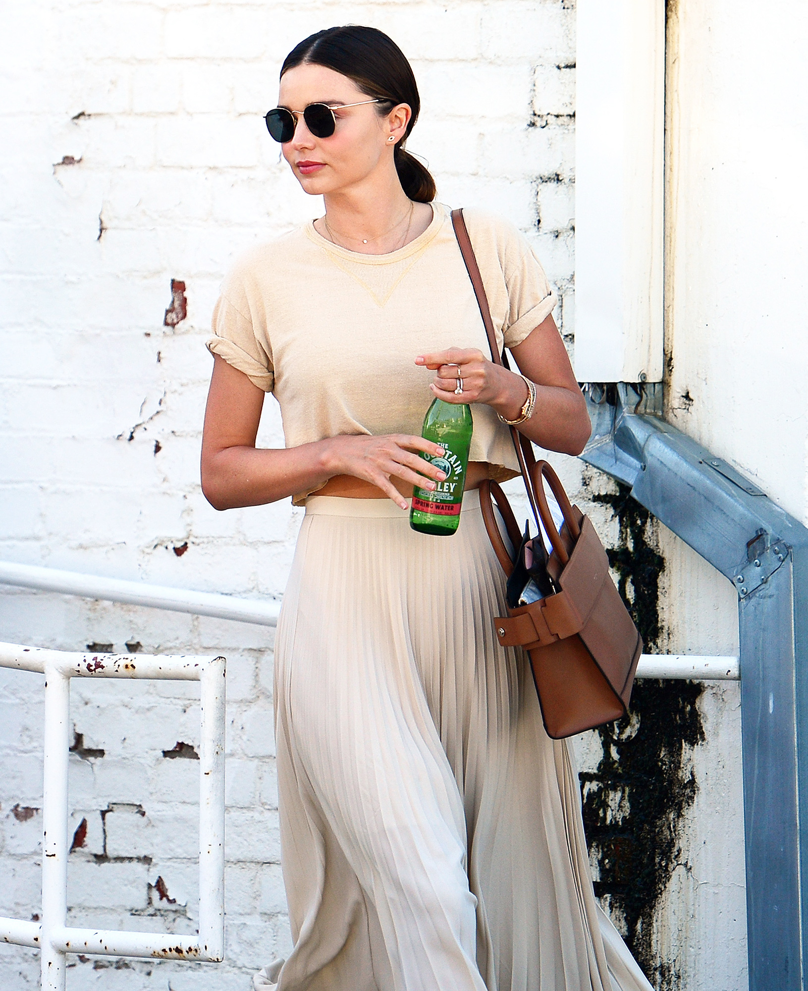 EXCLUSIVE: ****PREMIUM EXCLUSIVE RATES APPLY**** A newly married Miranda Kerr seen leaving Dr. Laser in Santa Monica