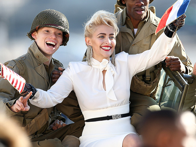 Paris Jackson during a photoshoot in front of the Eiffel Tower