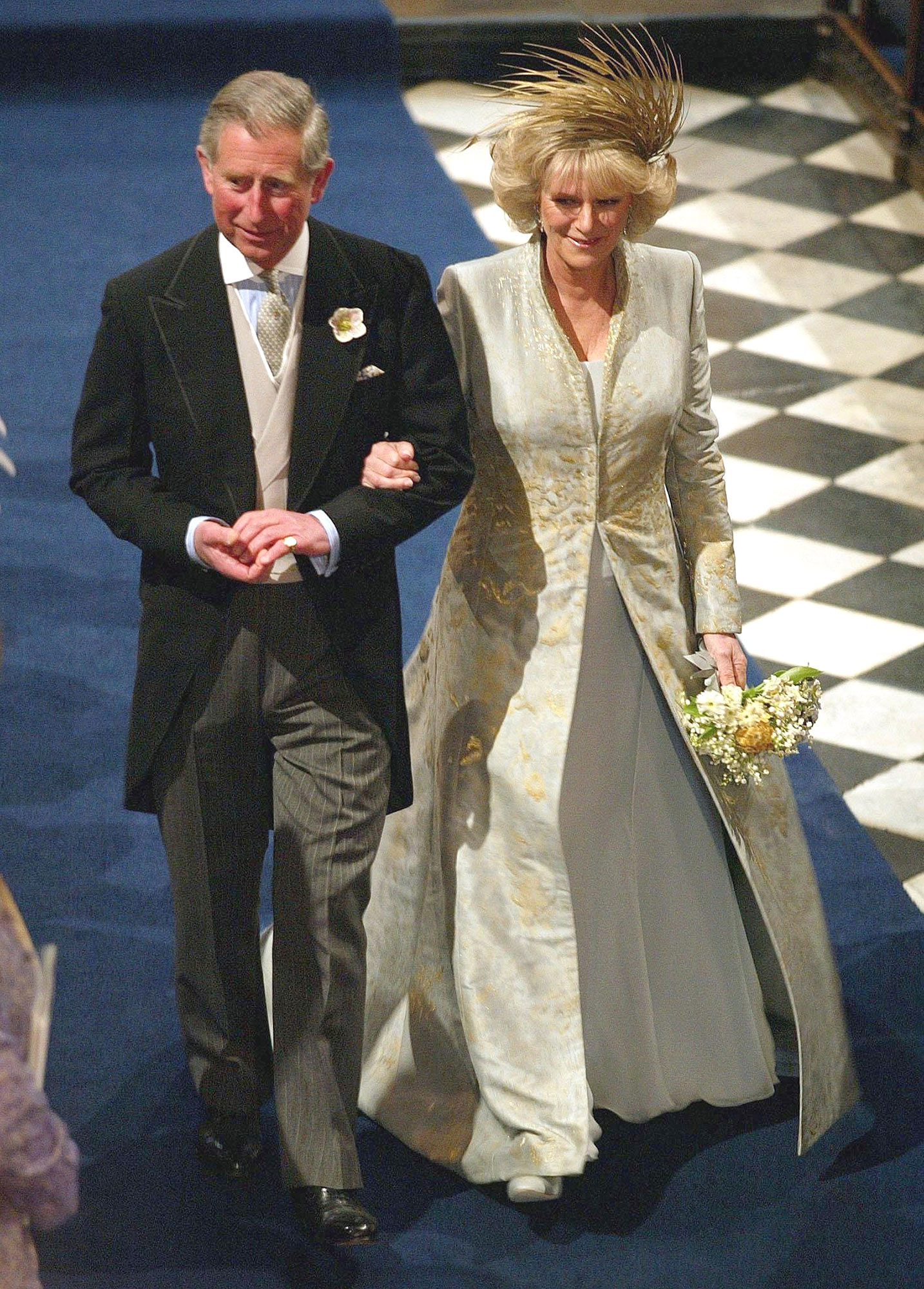 The Royal Wedding of HRH Prince Charles and Mrs. Camilla Parker Bowles - The Blessing Ceremony - Inside