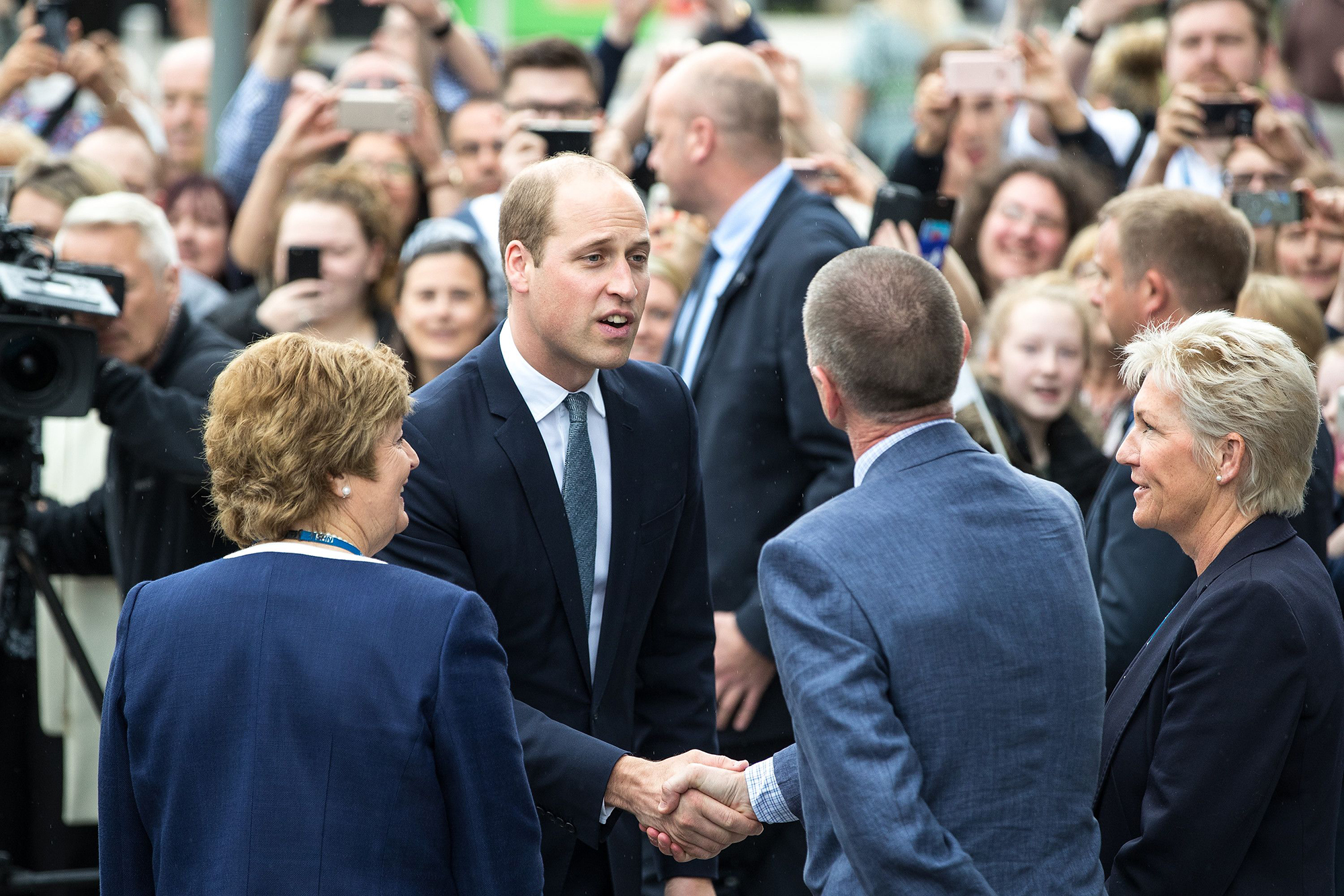 Prince William visit to Manchester, UK - 02 Jun 2017