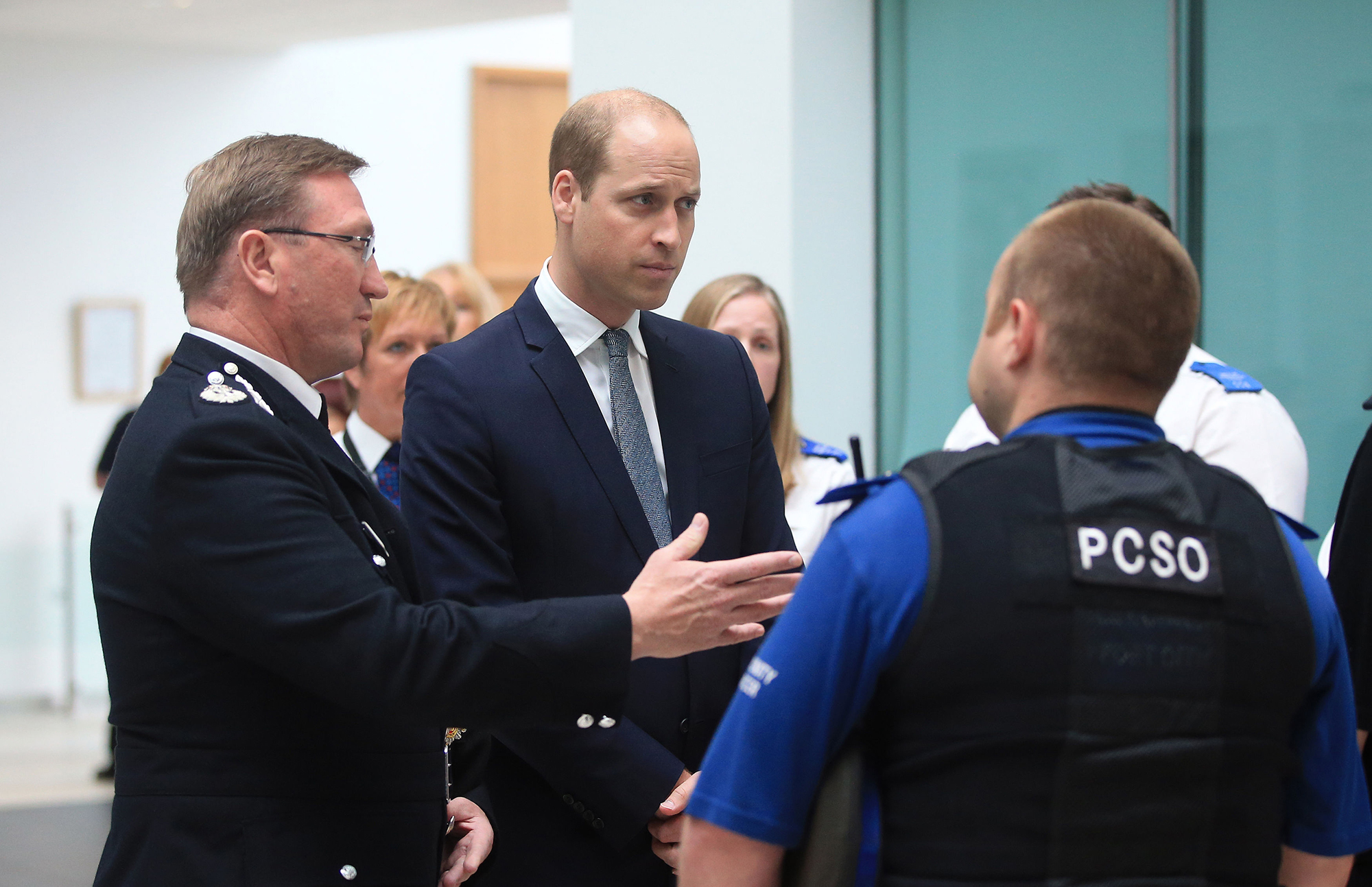 Prince William Visits the Headquarters of the Greater Manchester Police