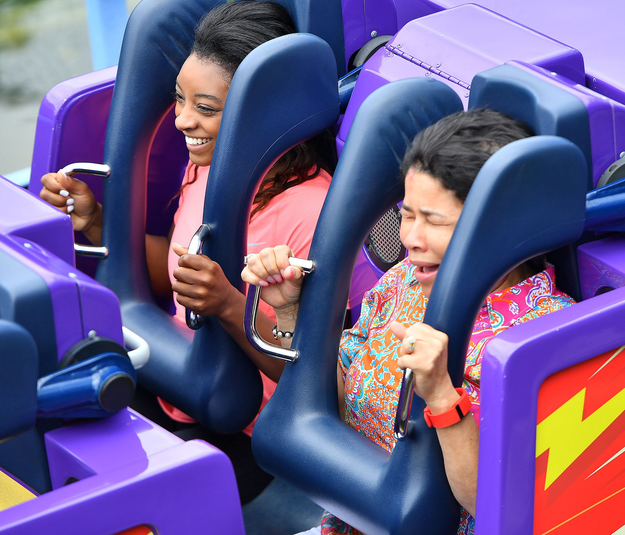 EXCLUSIVE: Gold Medalist Simone Biles enjoys a day at Disneyland with her family