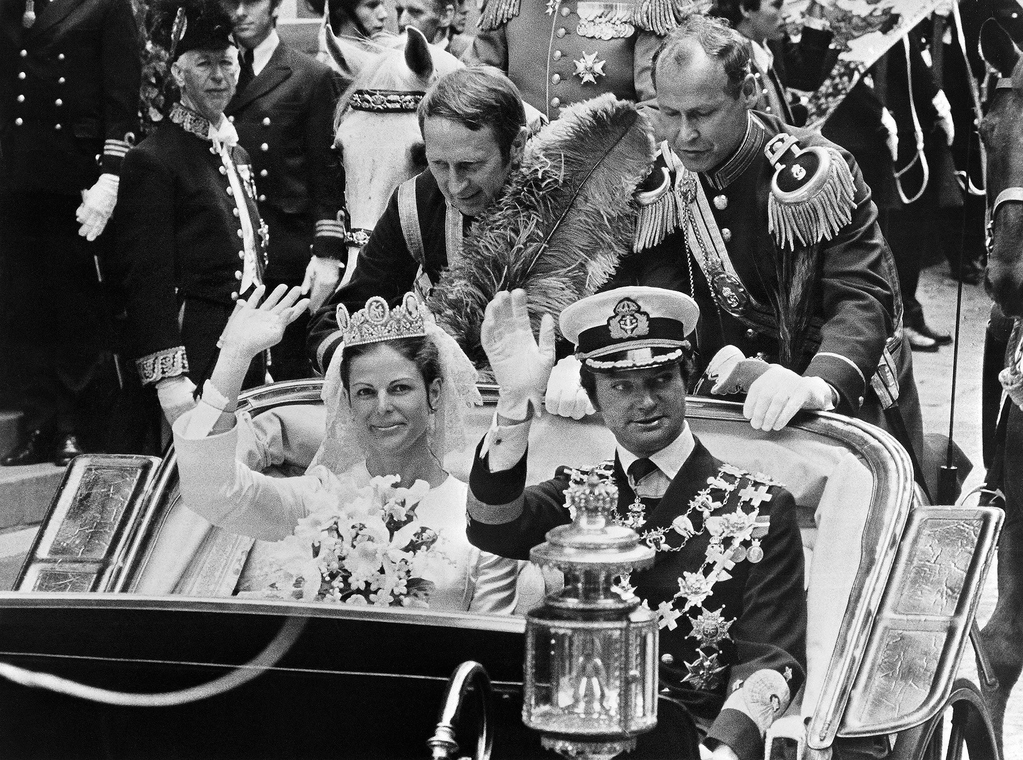 King Carl XVI Gustaf of Sweden and Miss