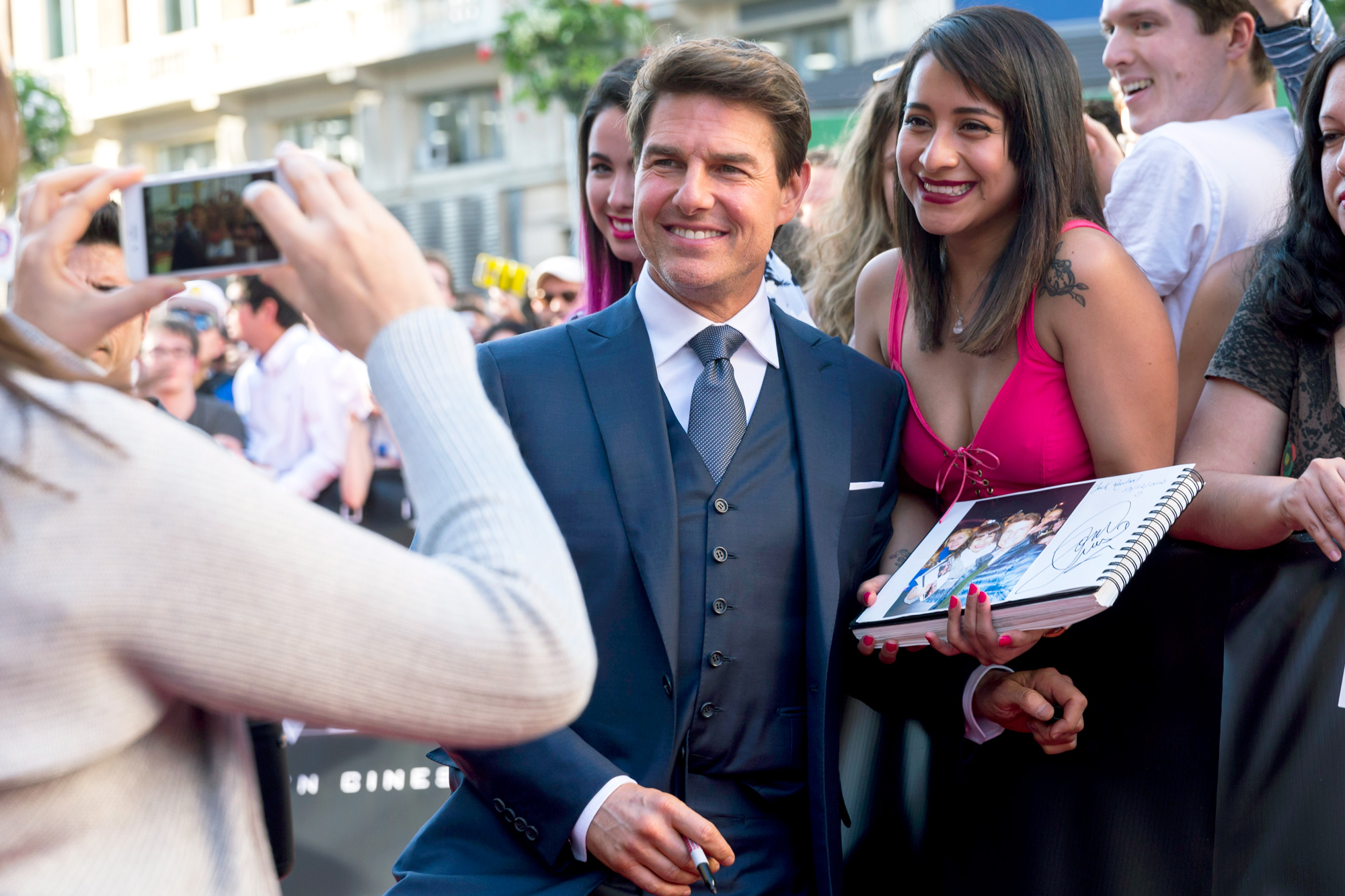 Tom Cruise attends 'The Mummy' premiere at Callao Cinema in Madrid, Spain.