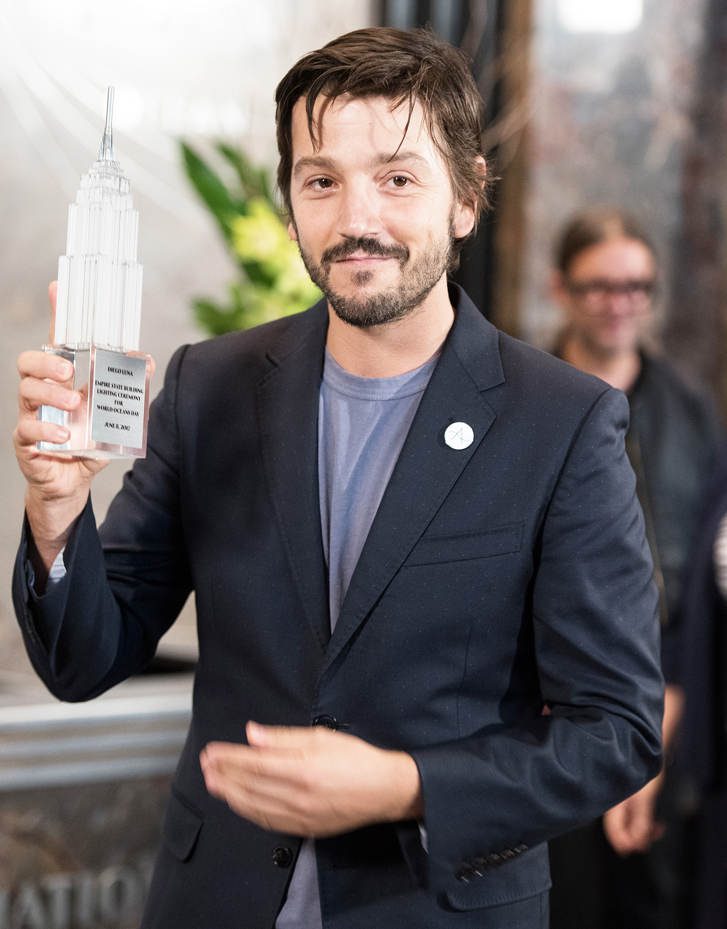 Diego Luna & Cyrill Gutsch Light The Empire State Building In Honor Of World Oceans Day