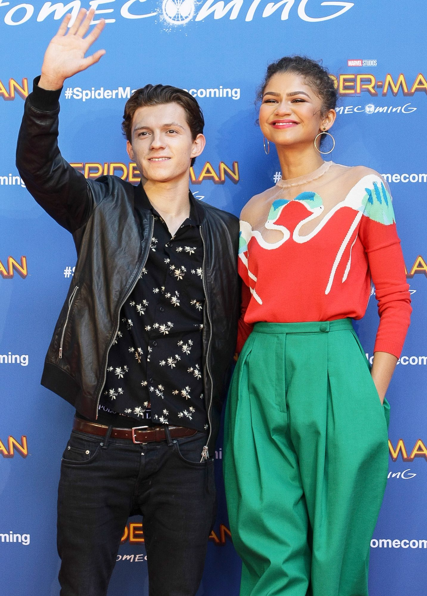 """Tom Holland and Zendaya attend a photocall of """"Spiderman"""" in Barcelona"""