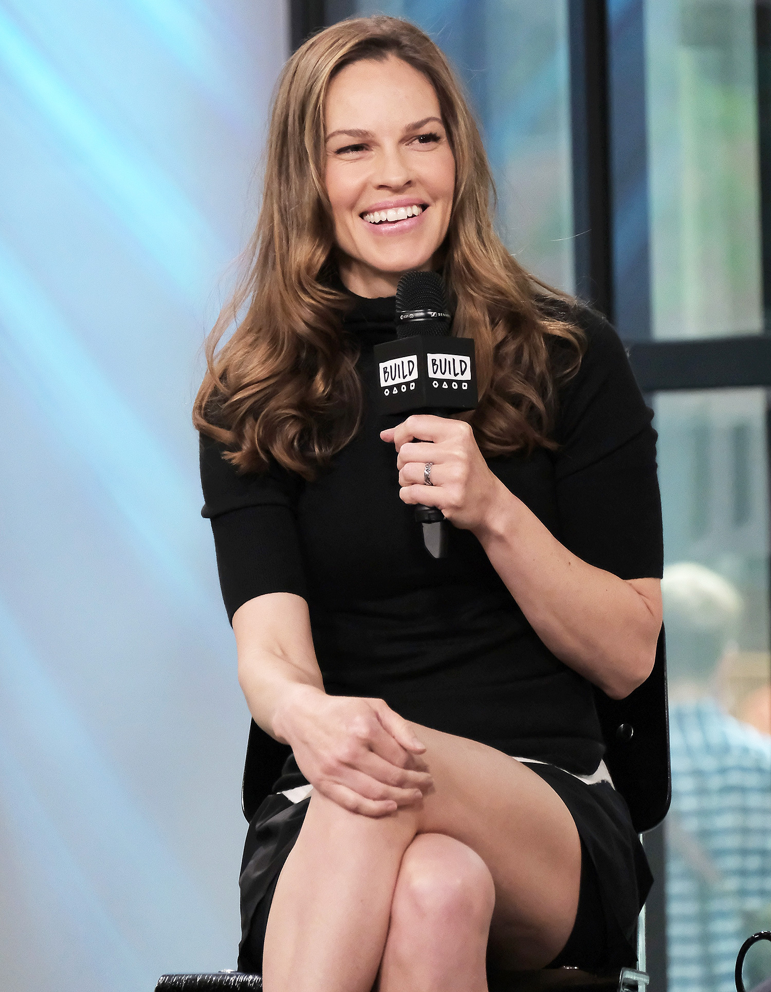 Build Presents Hilary Swank Discussing Her New Fashion Brand, Mission Statement
