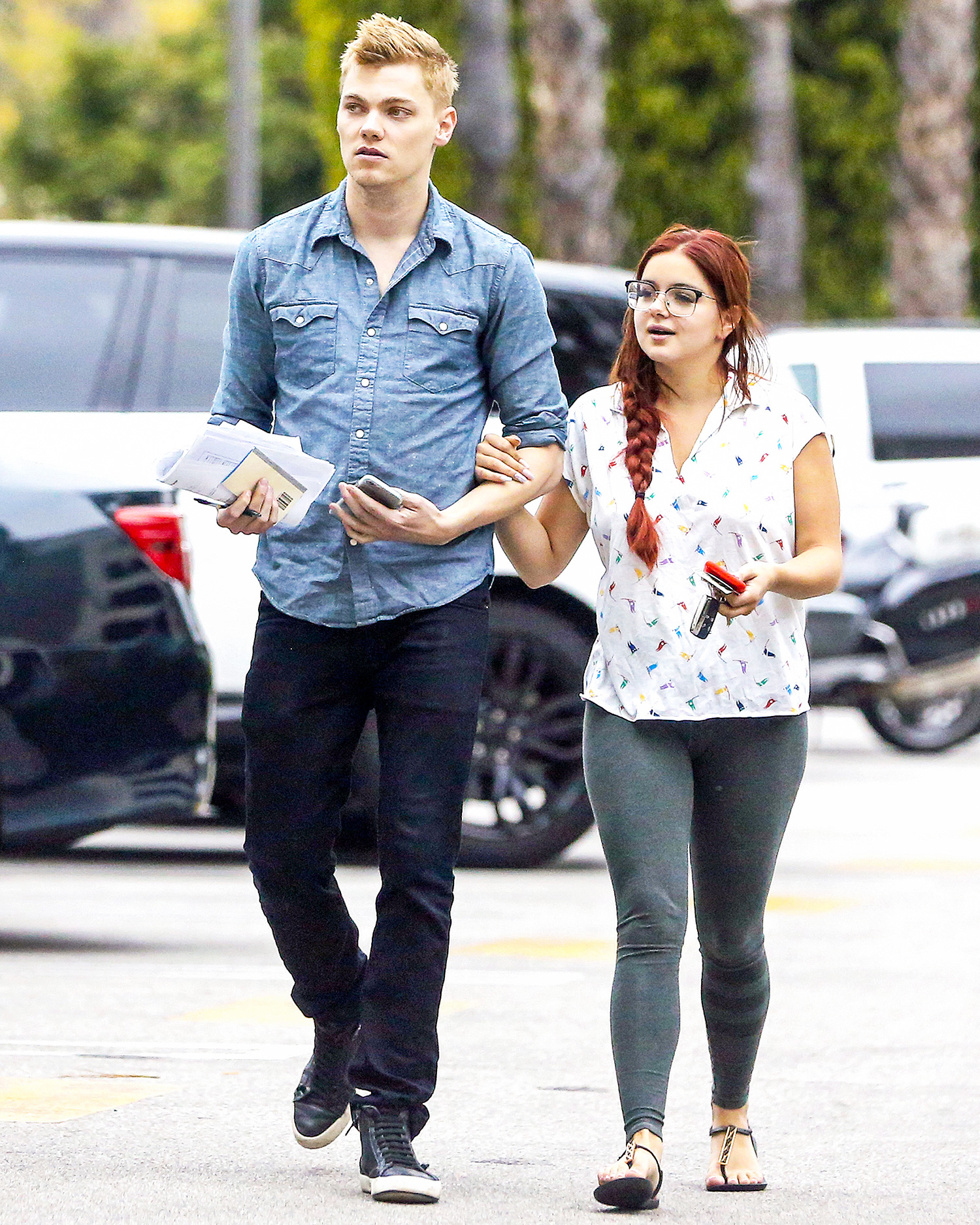 Ariel Winter and Levi Meaden Seen Walking Arm in Arm While Out and About
