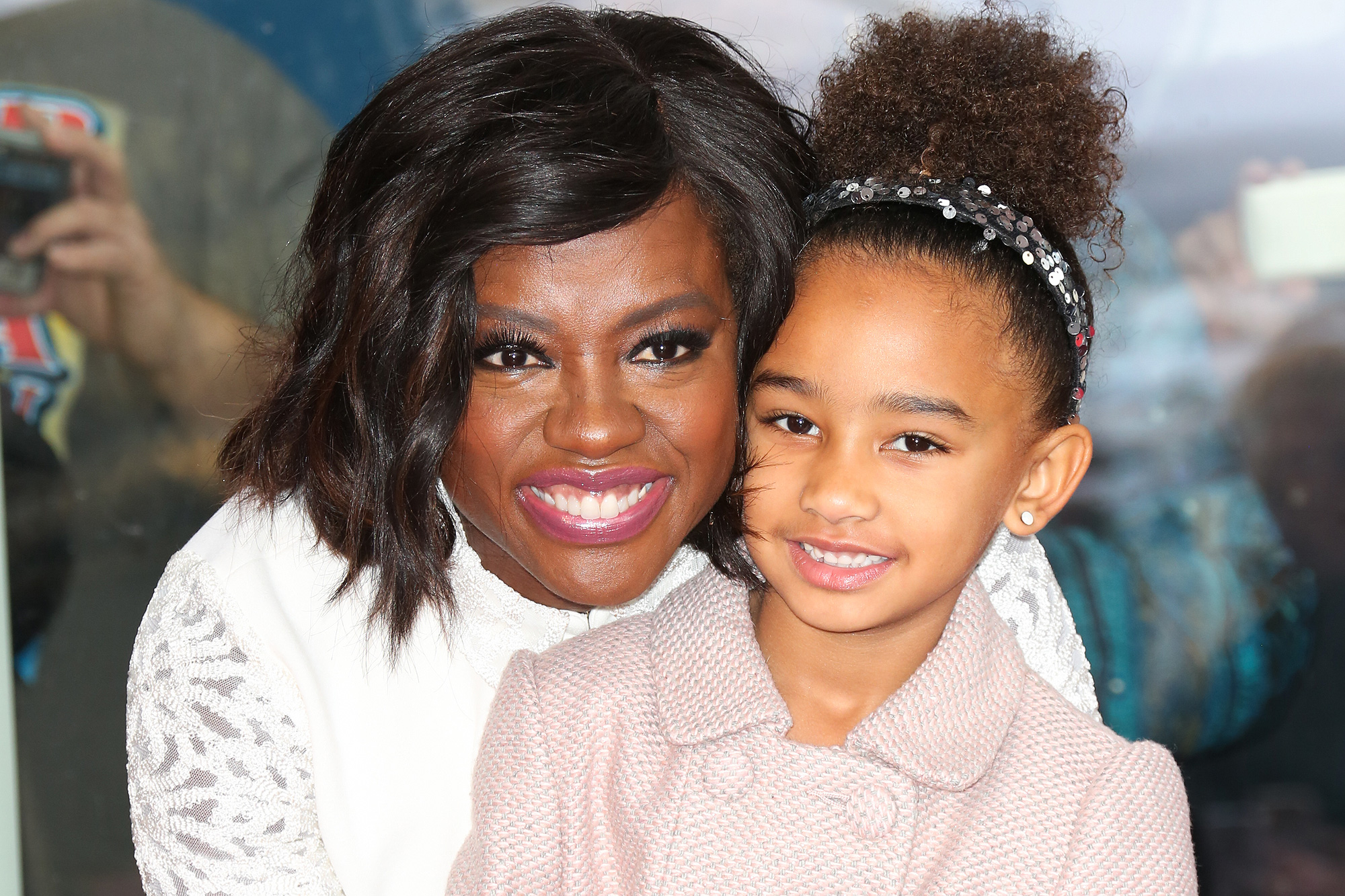 HOLLYWOOD, CA - JANUARY 05: Actress Viola Davis (L) and her Daughter Genesis Tennon (R) attend the ceremony to honor Viola Davis with a Star On The Hollywood Walk Of Fame on January 5, 2017 in Hollywood, California. (Photo by Paul Archuleta/FilmMagic)