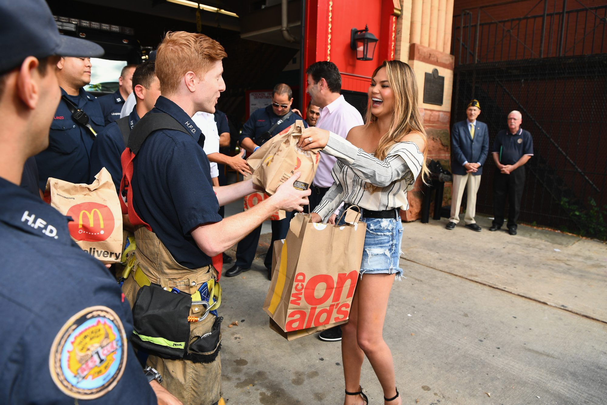 Chrissy Teigen Celebrates McDelivery Launch