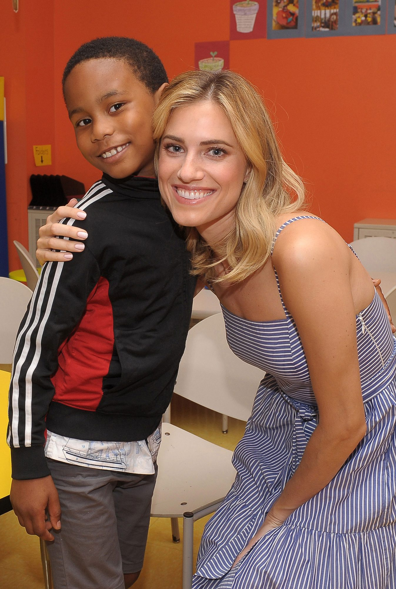 Allison Williams with students