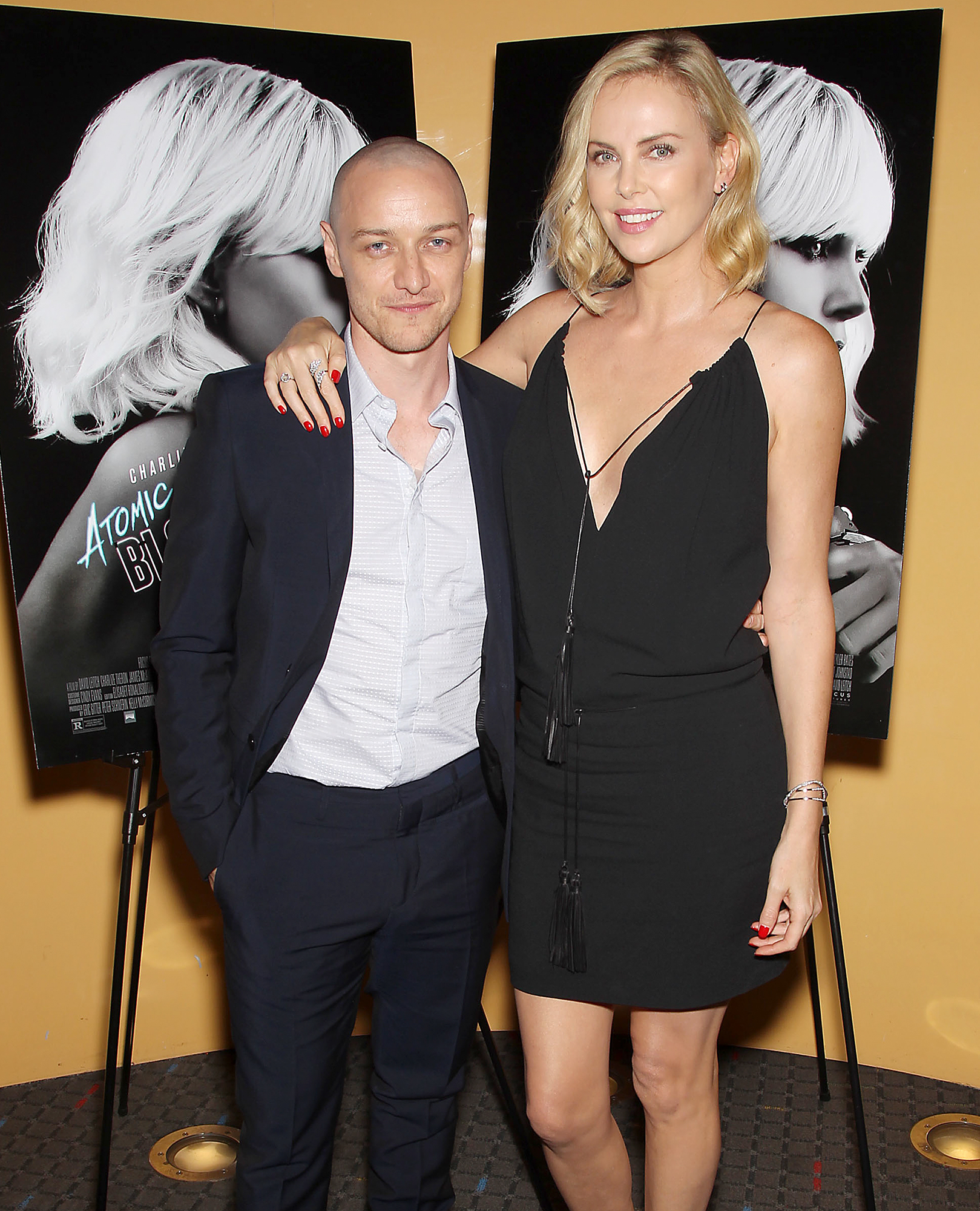Charlize Theron and James McAvoy at the Stoli Vodka Advanced Screening of Focus Features 'Atomic Blond', New York, USA - 19 Jul 2017