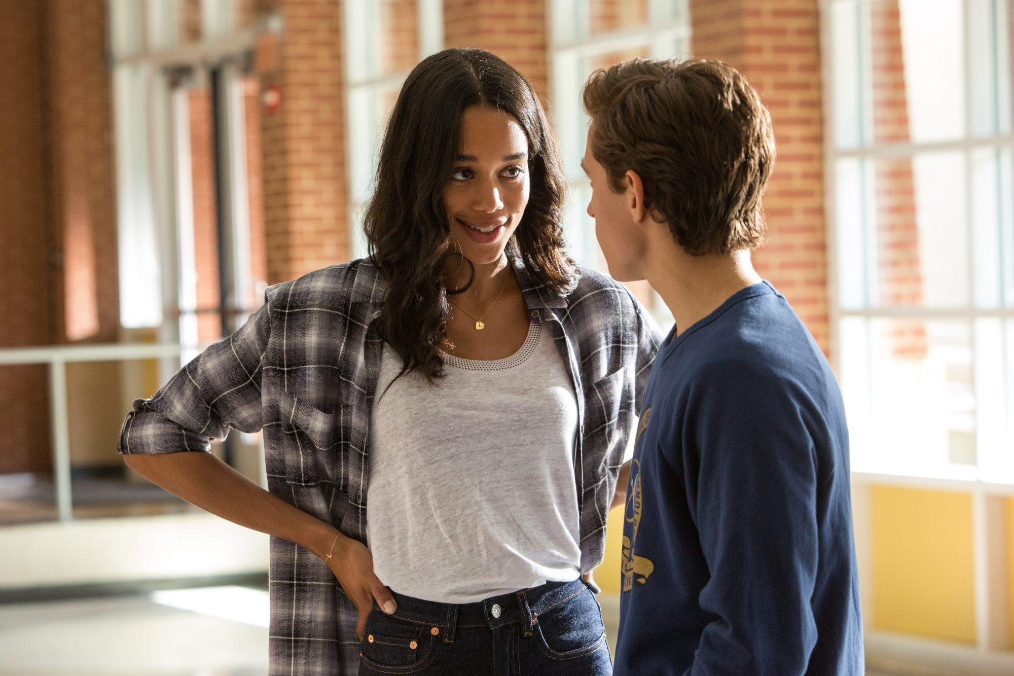 Laura Harrier and Tom Holland