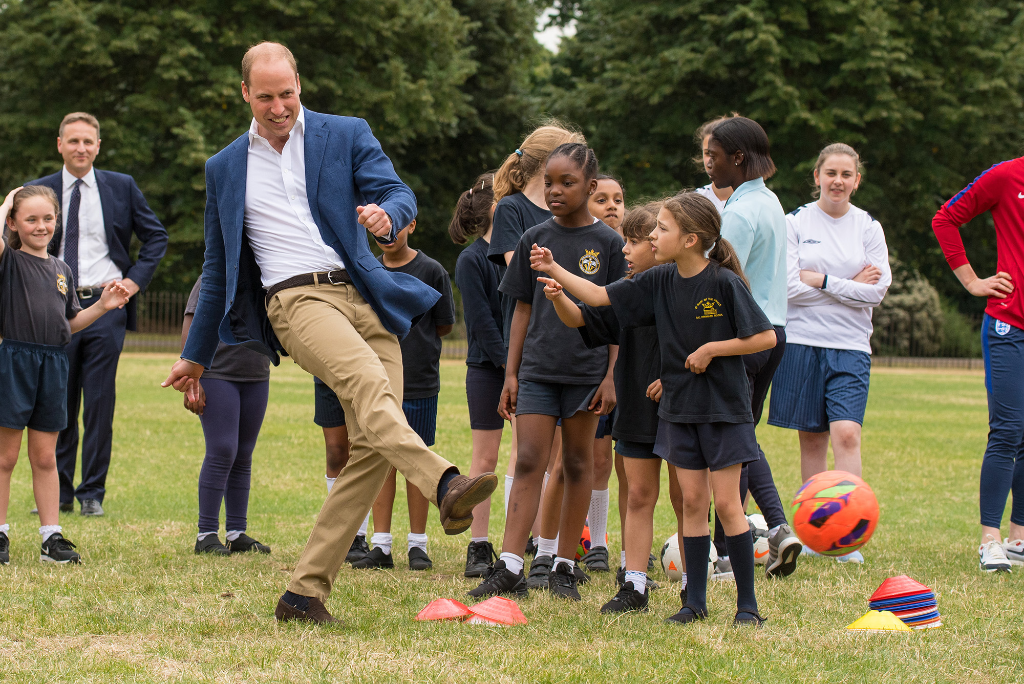 The Duke Of Cambridge Hosts A Good Luck Send Off For The England Women Football Team