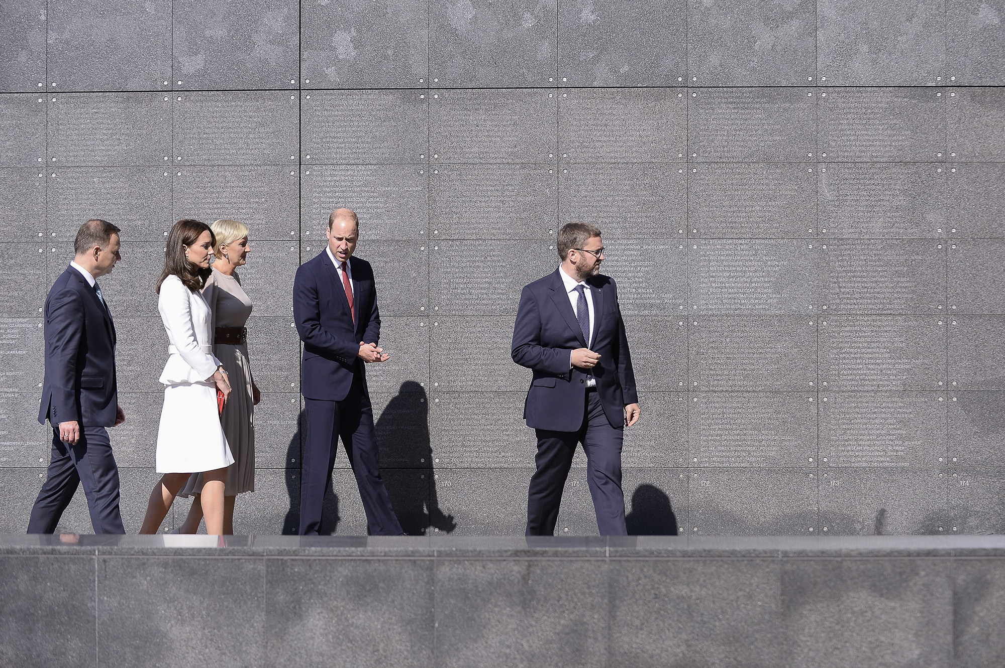 The Duke and Duchess of Cambridge's visit Warsaw Uprising Museum