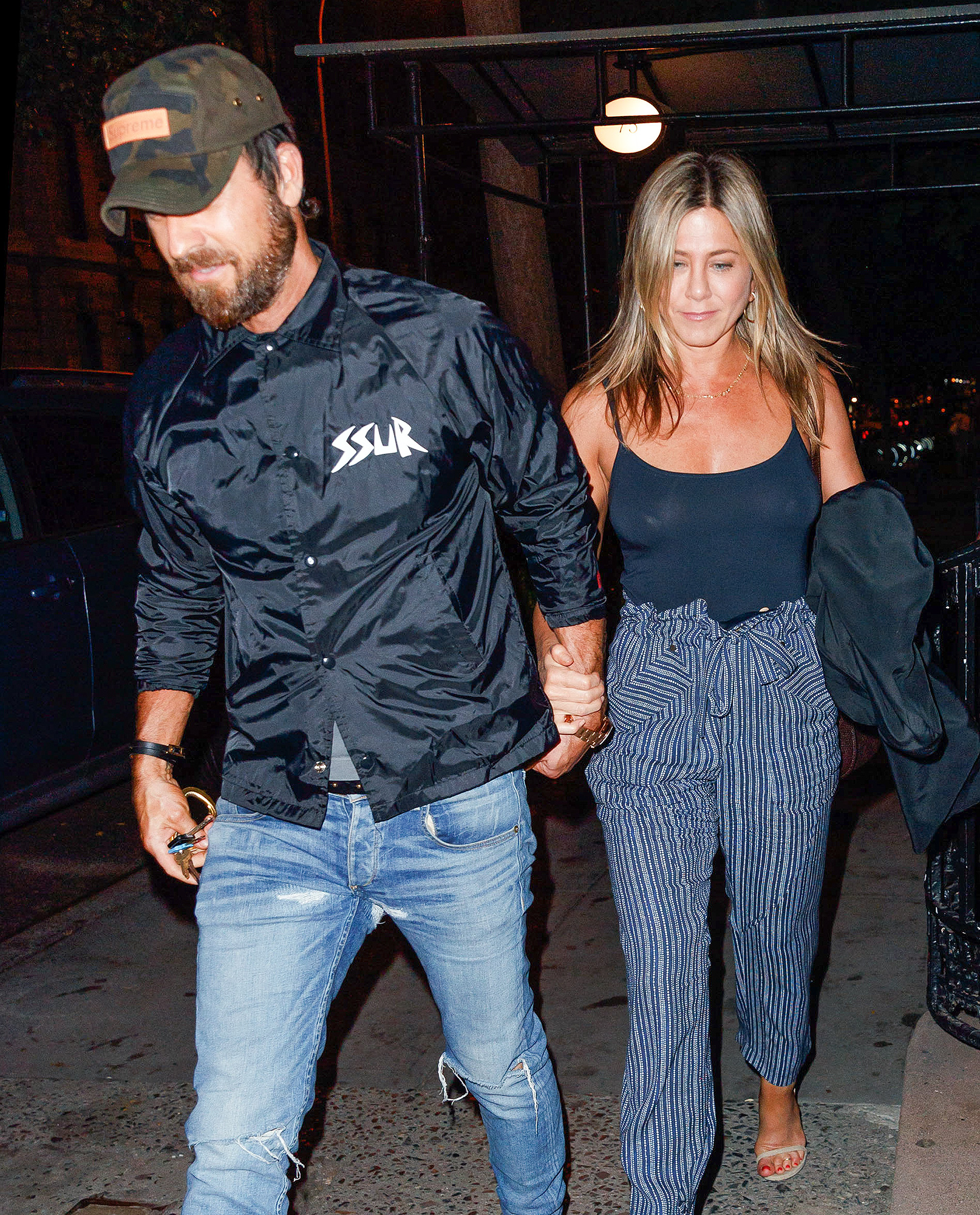 EXCLUSIVE: Jennifer Aniston and Justin Theroux go to dinner at Blue Hill in New York