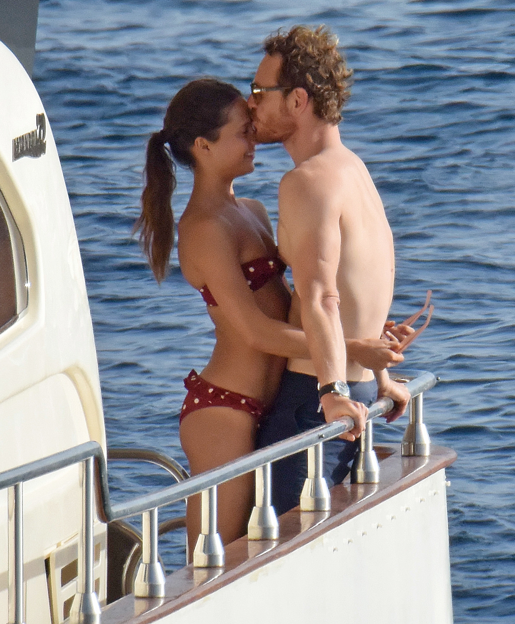EXCLUSIVE: Alicia Vikander and Michael Fassbender on holidays in Formentera