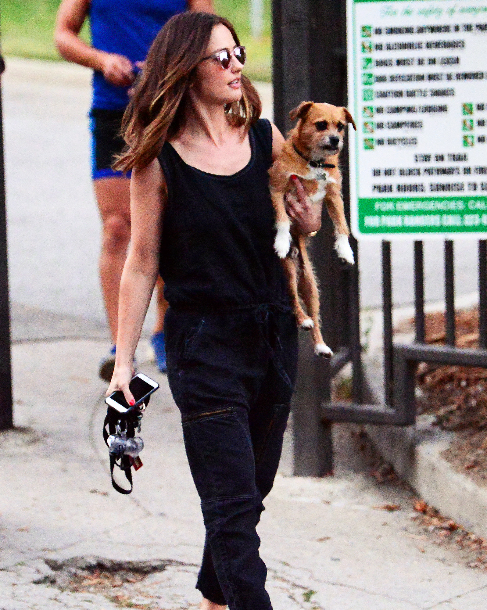 EXCLUSIVE: Minka Kelly takes her dogs to the park after going public with her new relationship!