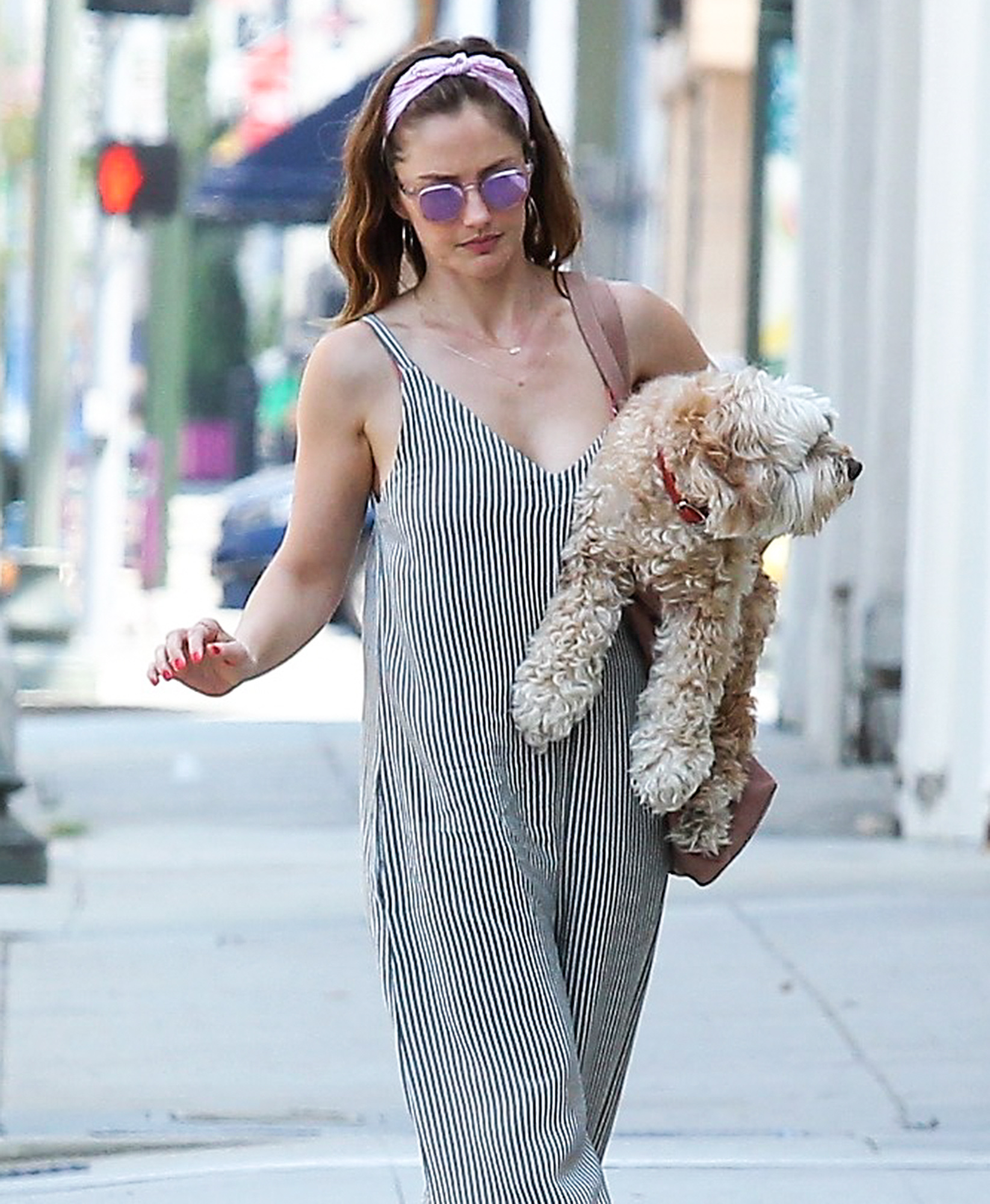 EXCLUSIVE: Minka Kelly spotted running errands with her pup in La Quinta