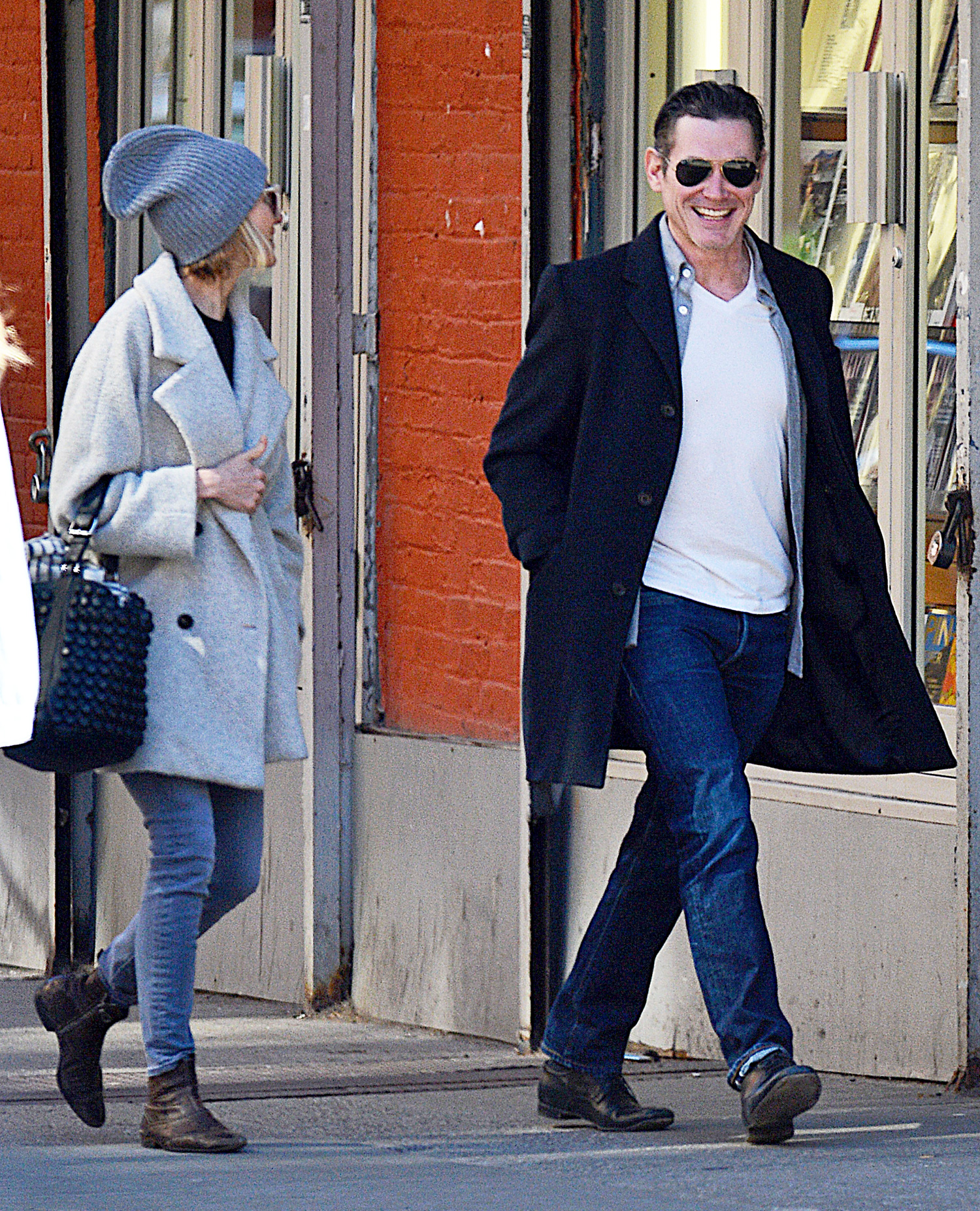 EXCLUSIVE: Naomi Watts and Billy Crudup Step Out in Soho for Lunch