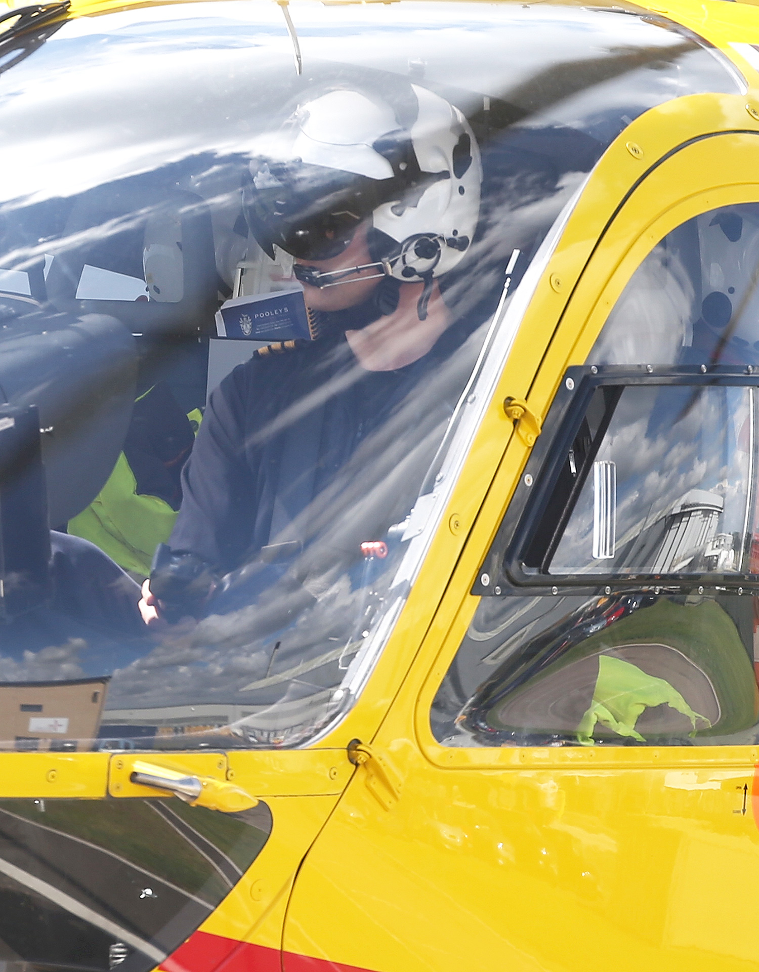 The Queen & Duke Of Edinburgh Open New Base Of East Anglian Air Ambulance At Cambridge Airport